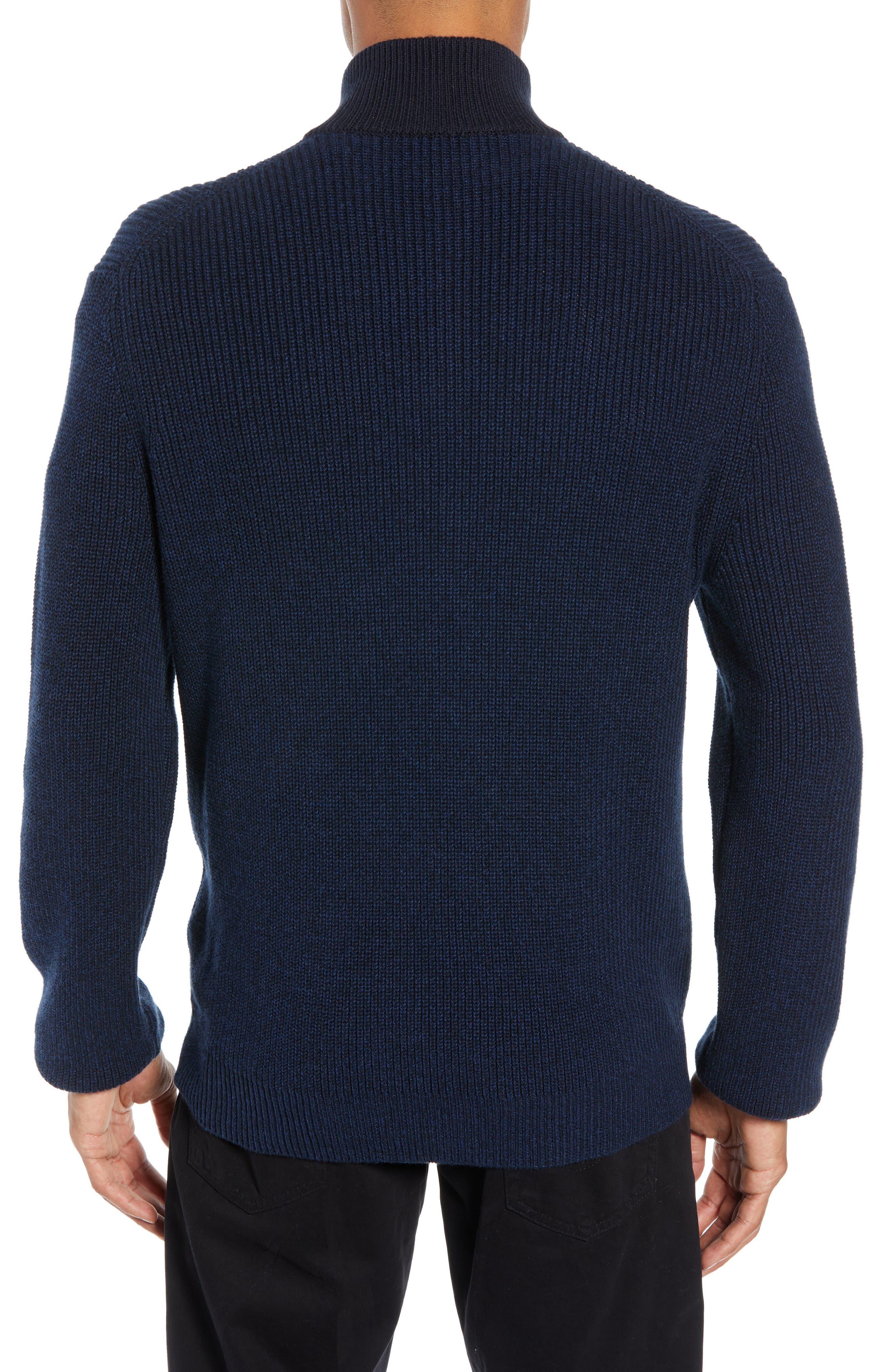 Fillmore Quarter Zip Sweater,                             Alternate thumbnail 2, color,                             NAVY