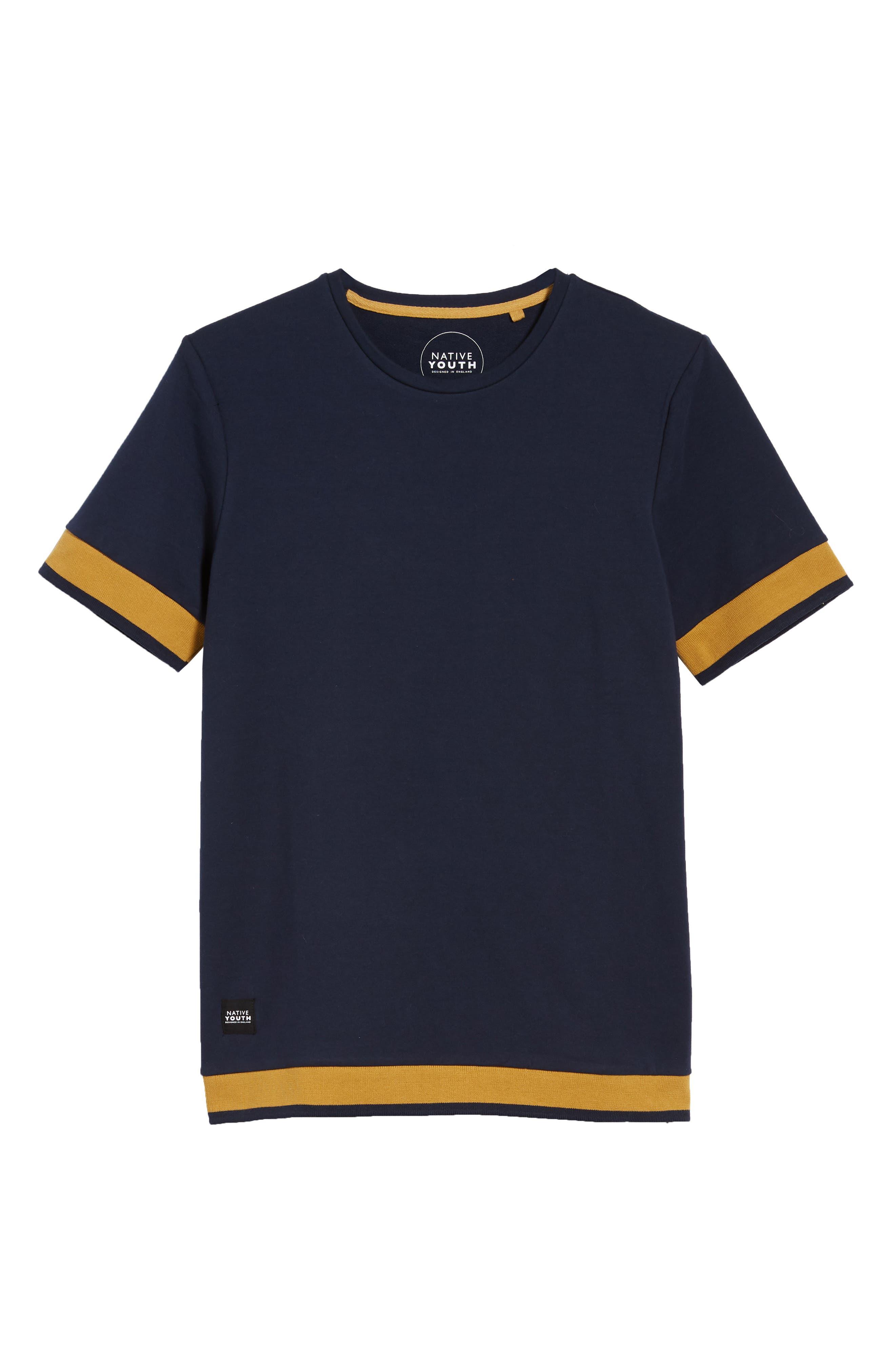 Tipped T-Shirt,                             Alternate thumbnail 6, color,                             NAVY