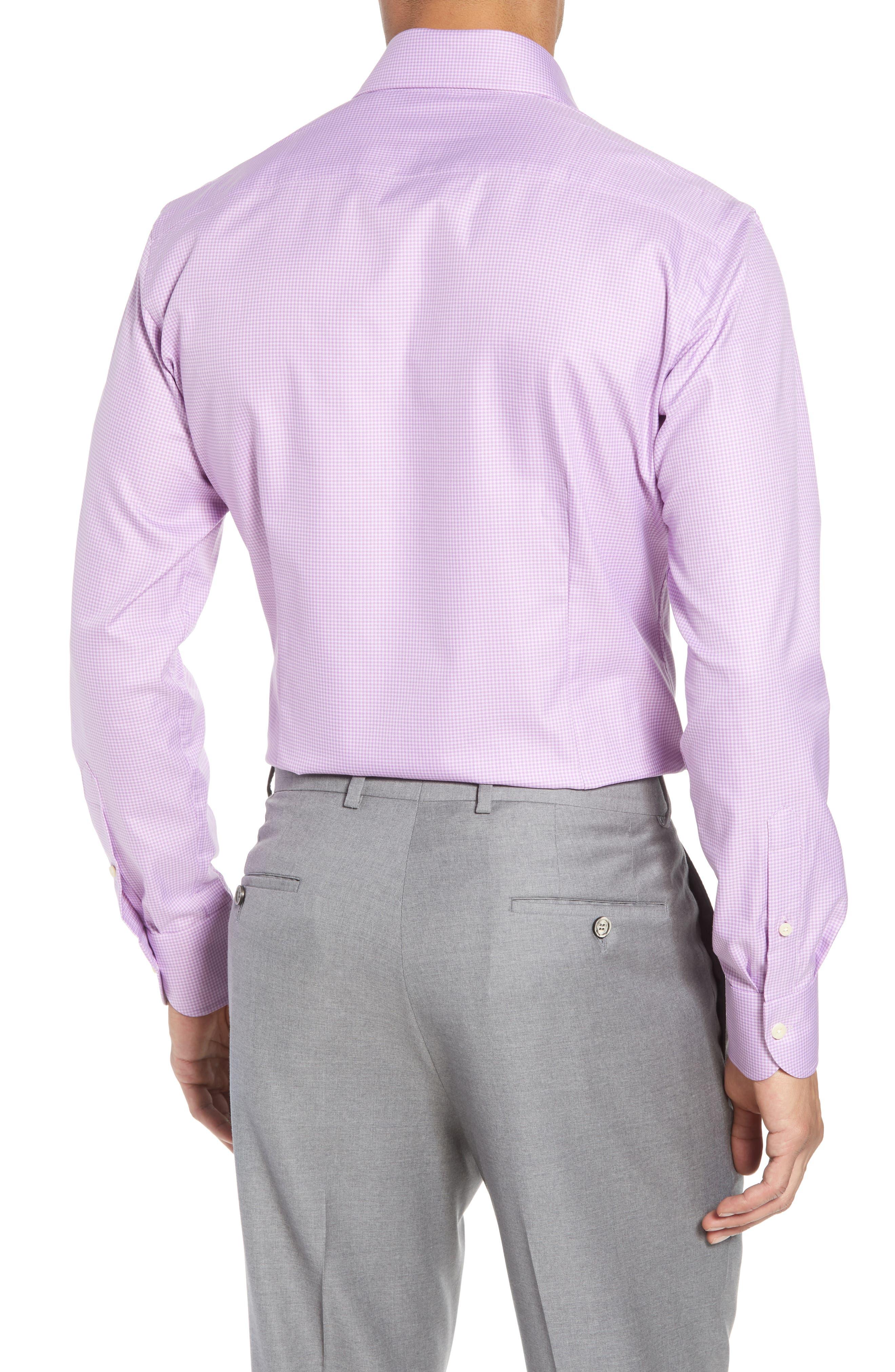 Innis Slim Fit Check Dress Shirt,                             Alternate thumbnail 5, color,