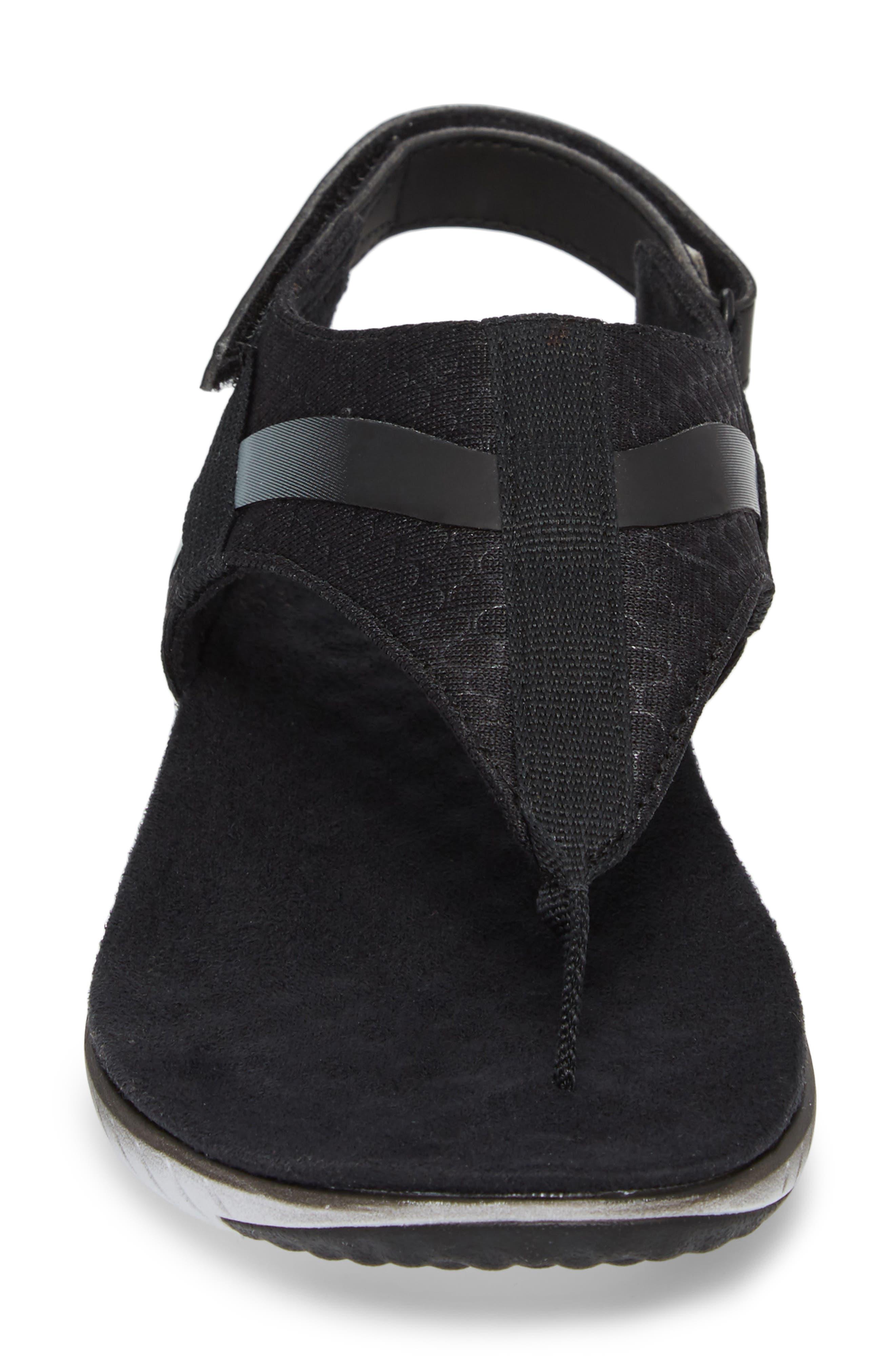 1SIX8 Linna Slide Air Cushion+ Sandal,                             Alternate thumbnail 4, color,                             001