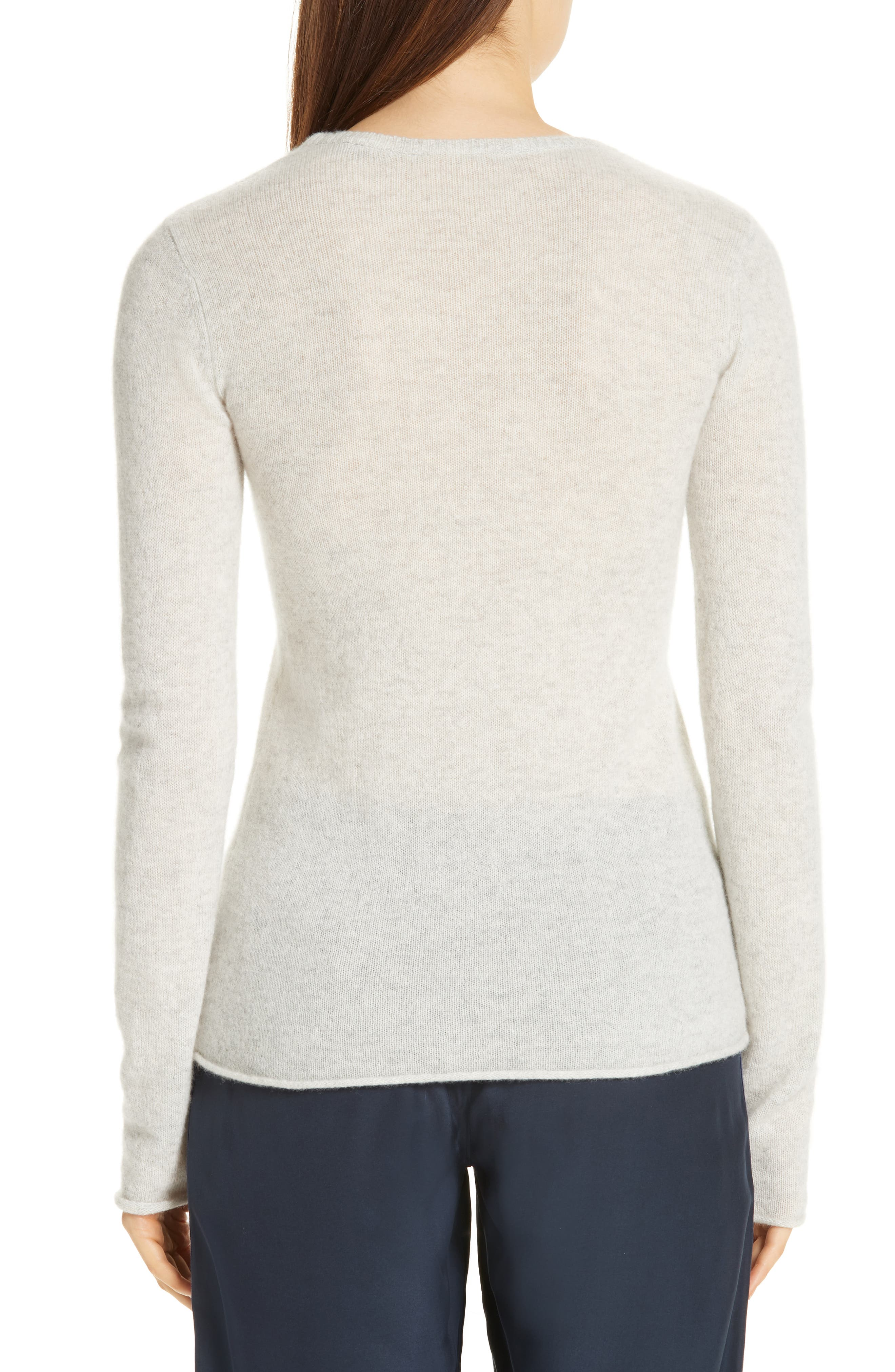 Cashmere Sweater,                             Alternate thumbnail 2, color,                             BLIZZARD