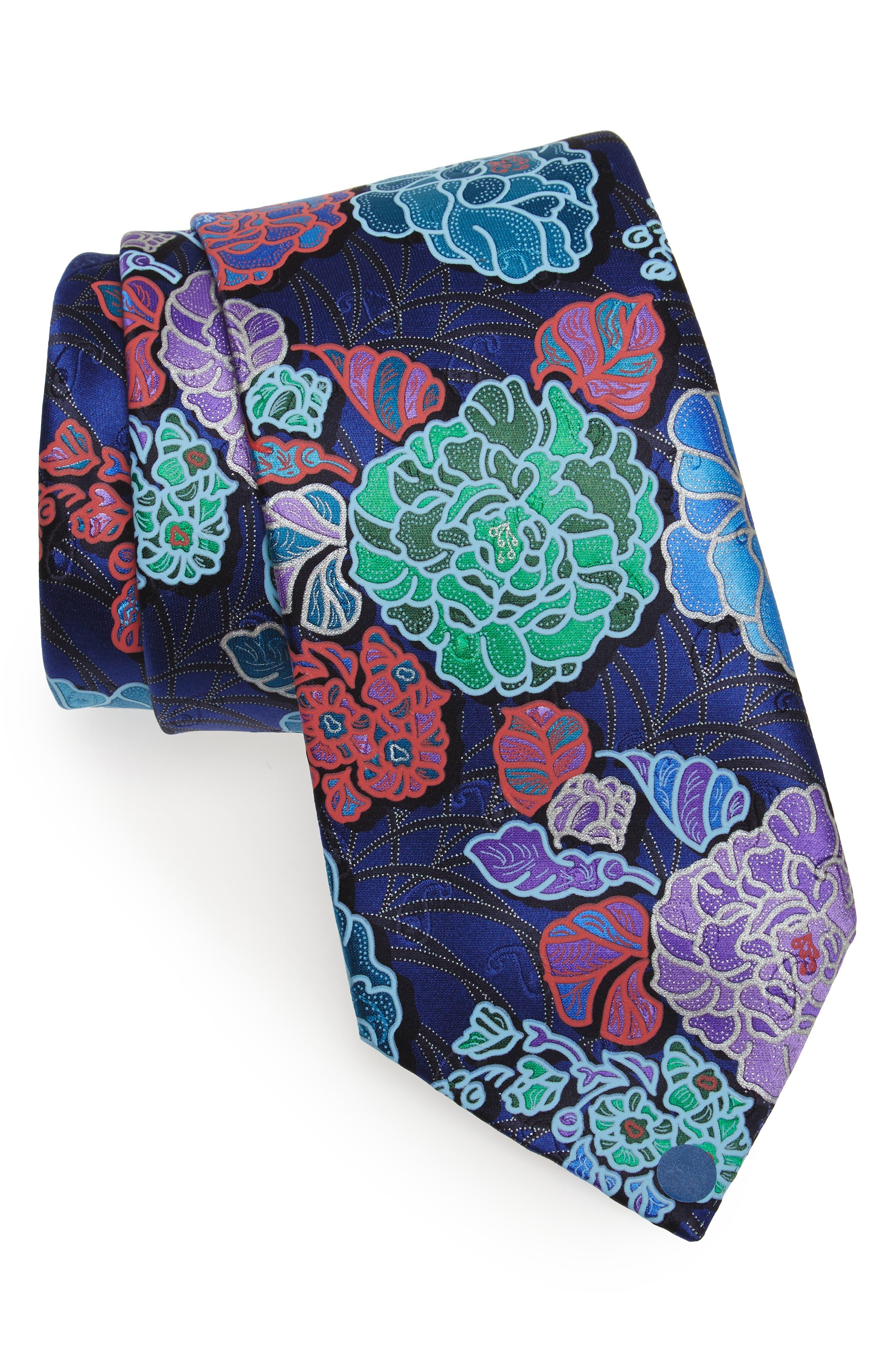 Quindici Floral Silk Tie,                             Main thumbnail 2, color,