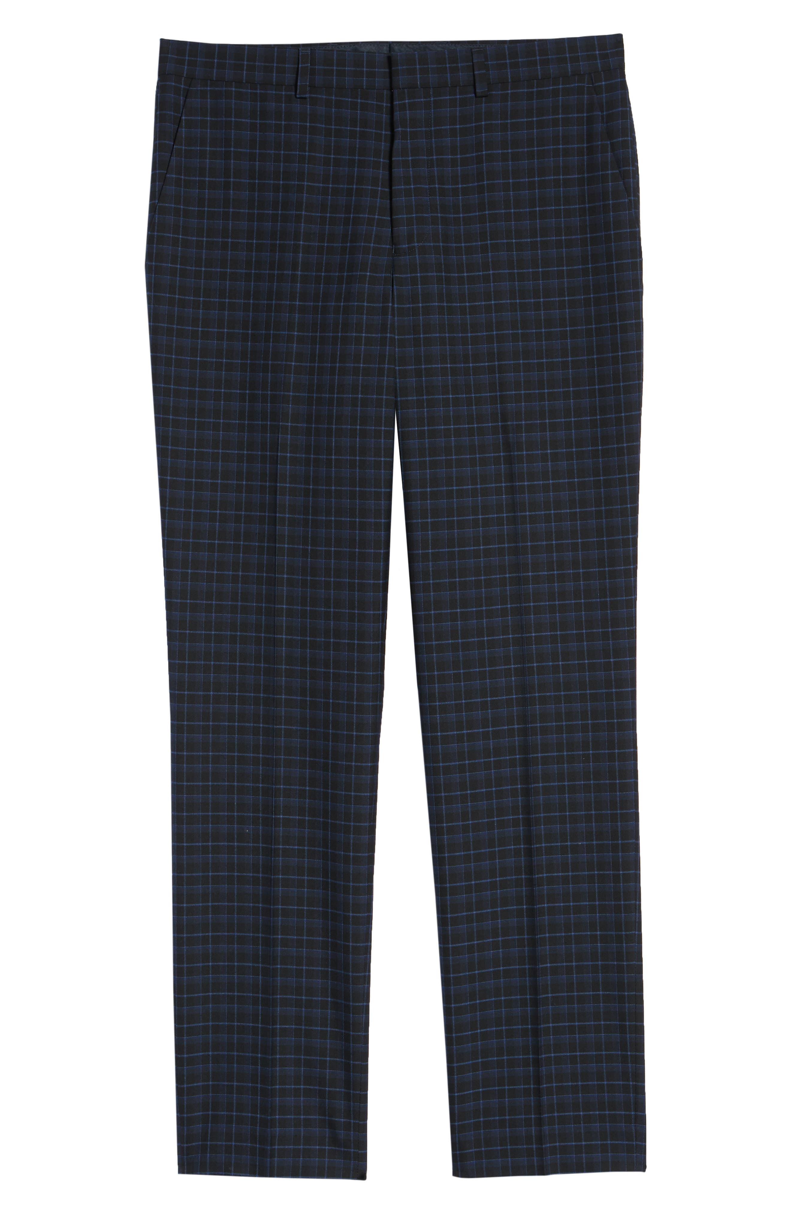Alsager Slim Fit Check Suit Pants,                             Alternate thumbnail 6, color,                             021