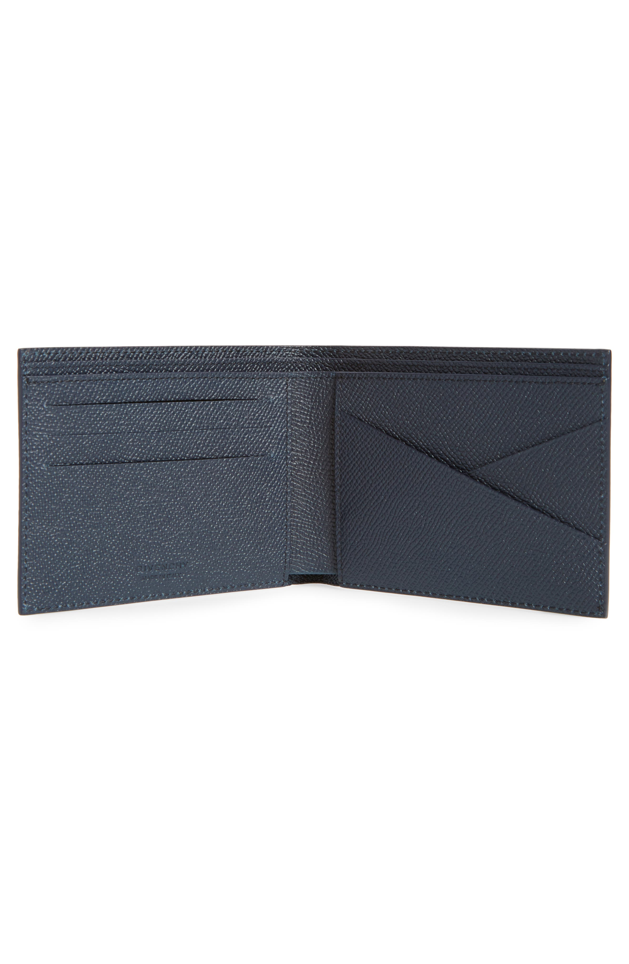Eros Textured Leather Wallet,                             Alternate thumbnail 2, color,                             NAVY