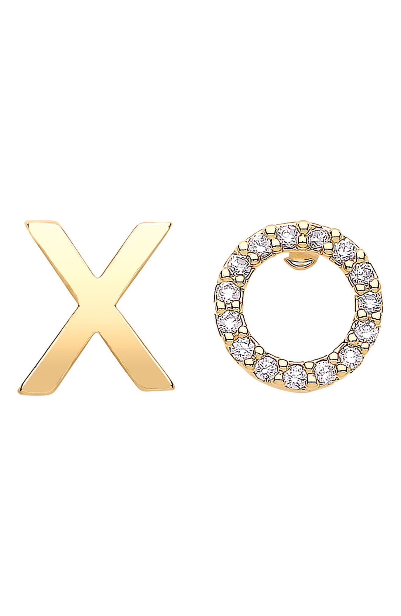 ESTELLA BARTLETT Xo Stud Earrings in Gold