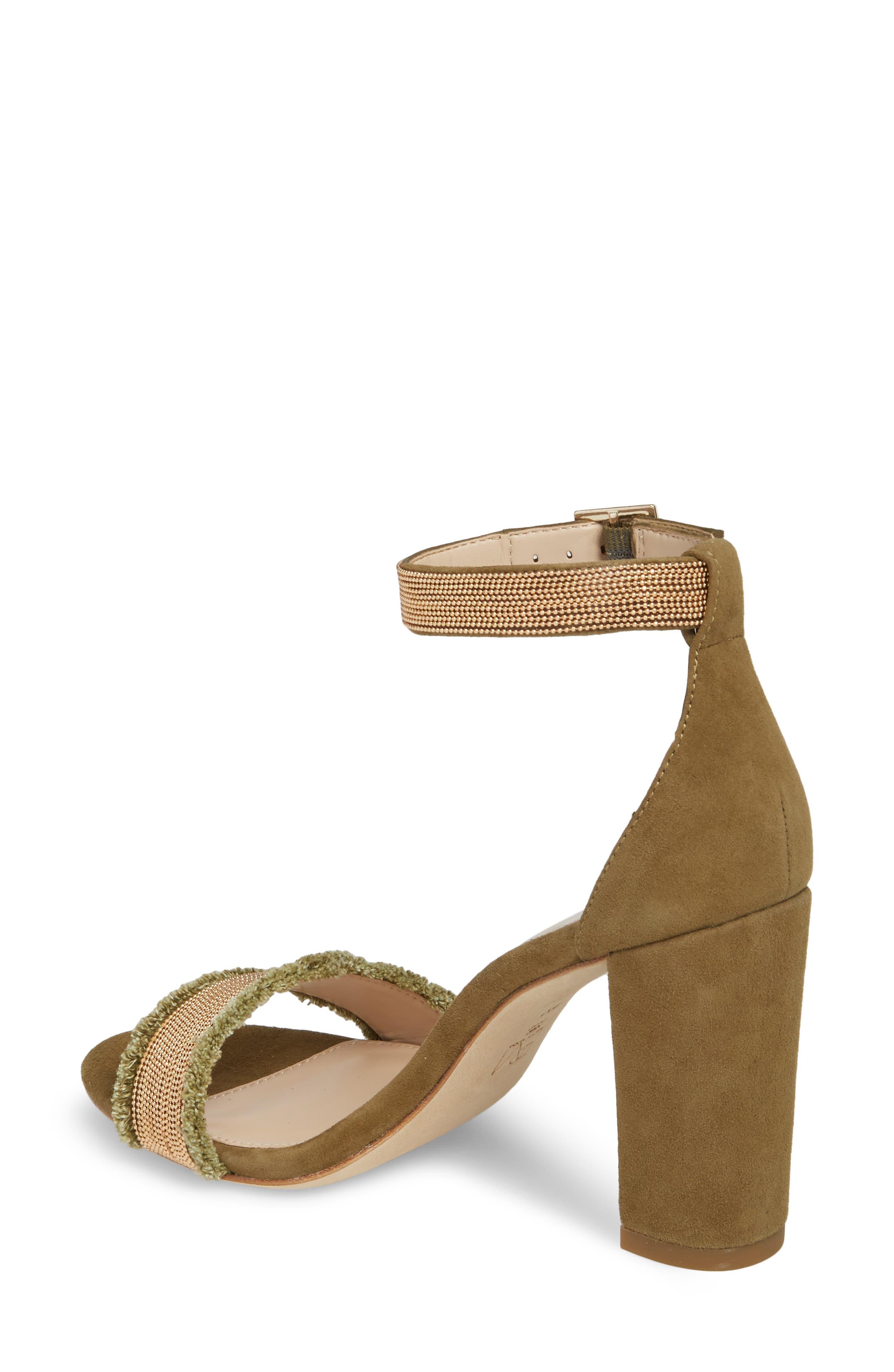 Bonnie6 Embellished Sandal,                             Alternate thumbnail 2, color,                             KHAKI SUEDE
