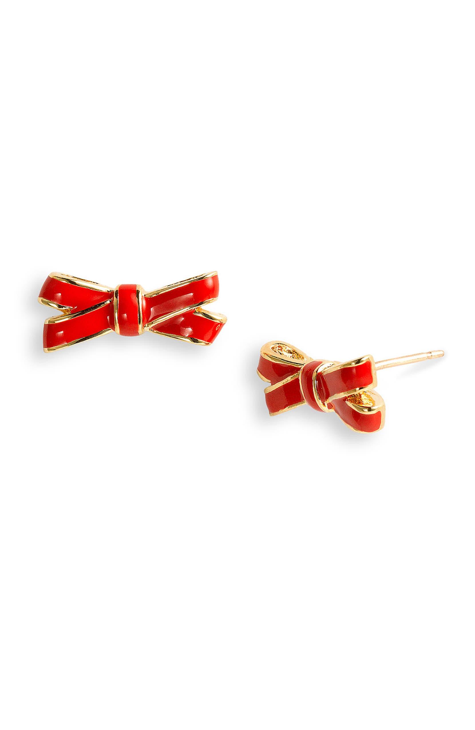 kate spade new york double bow stud earrings   Nordstrom