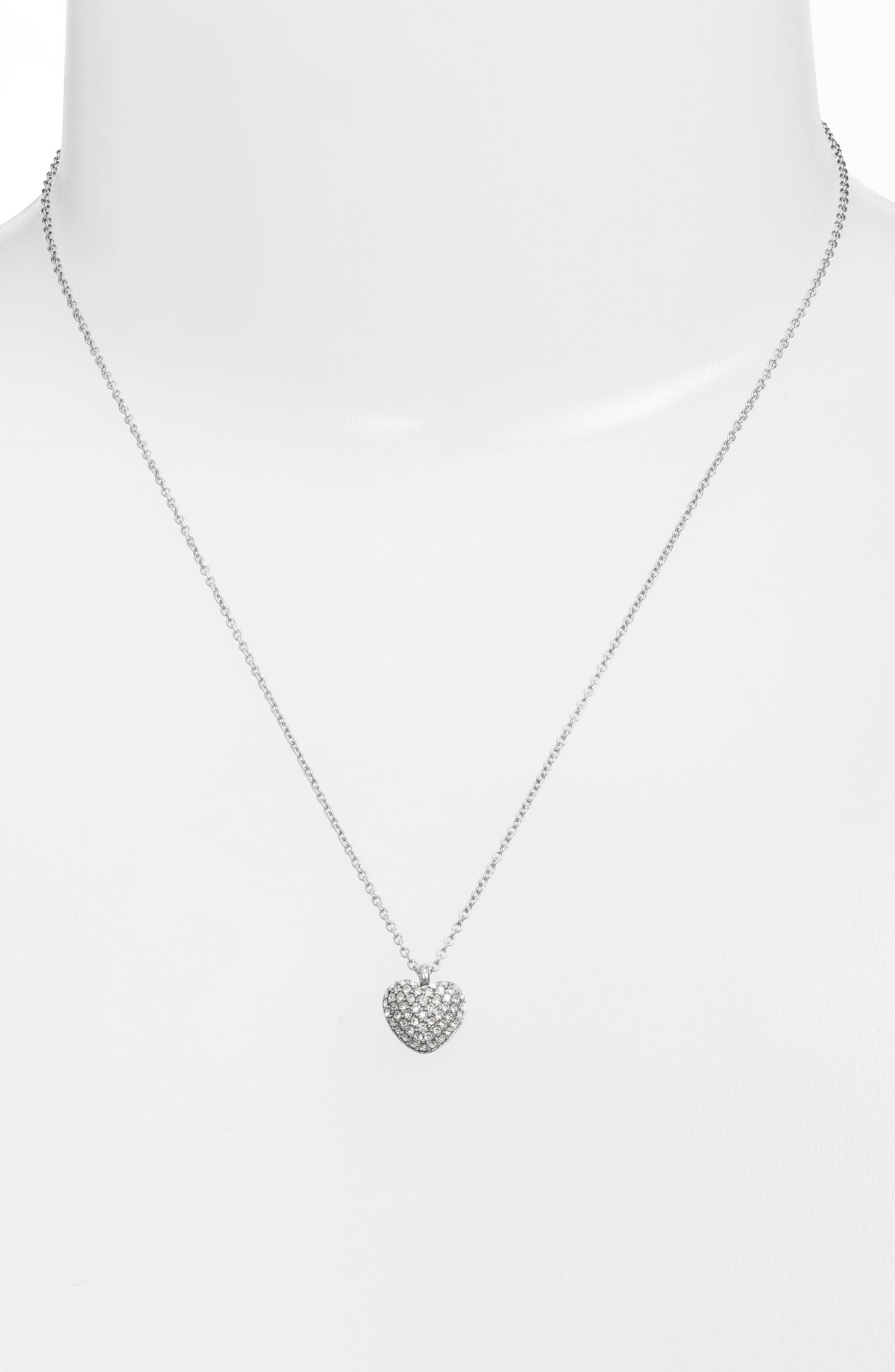 Pavé Heart Pendant Necklace,                             Alternate thumbnail 2, color,                             040