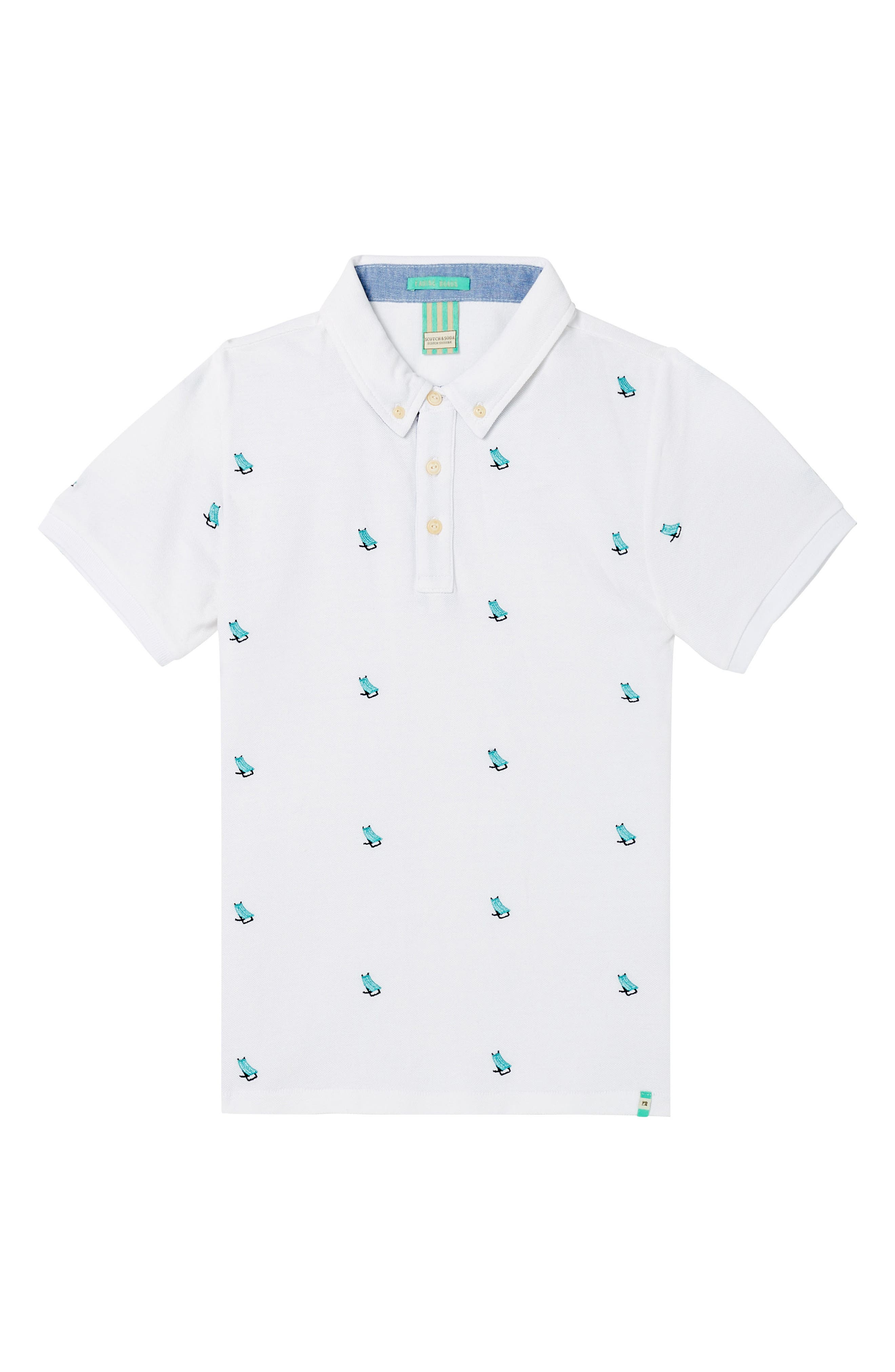 Embroidered Polo,                         Main,                         color, 100