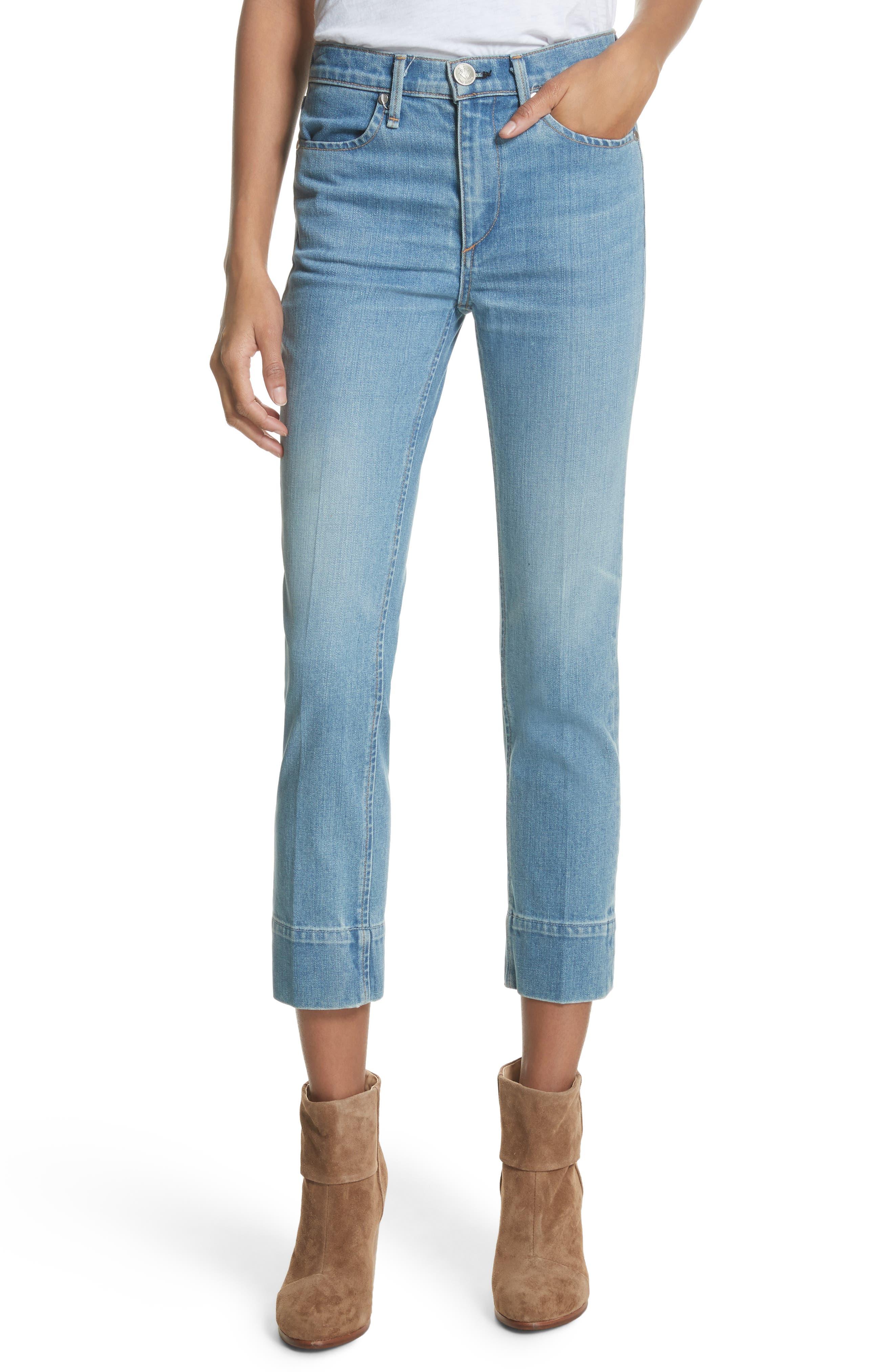 Ankle Cigarette Jeans,                             Main thumbnail 1, color,                             420