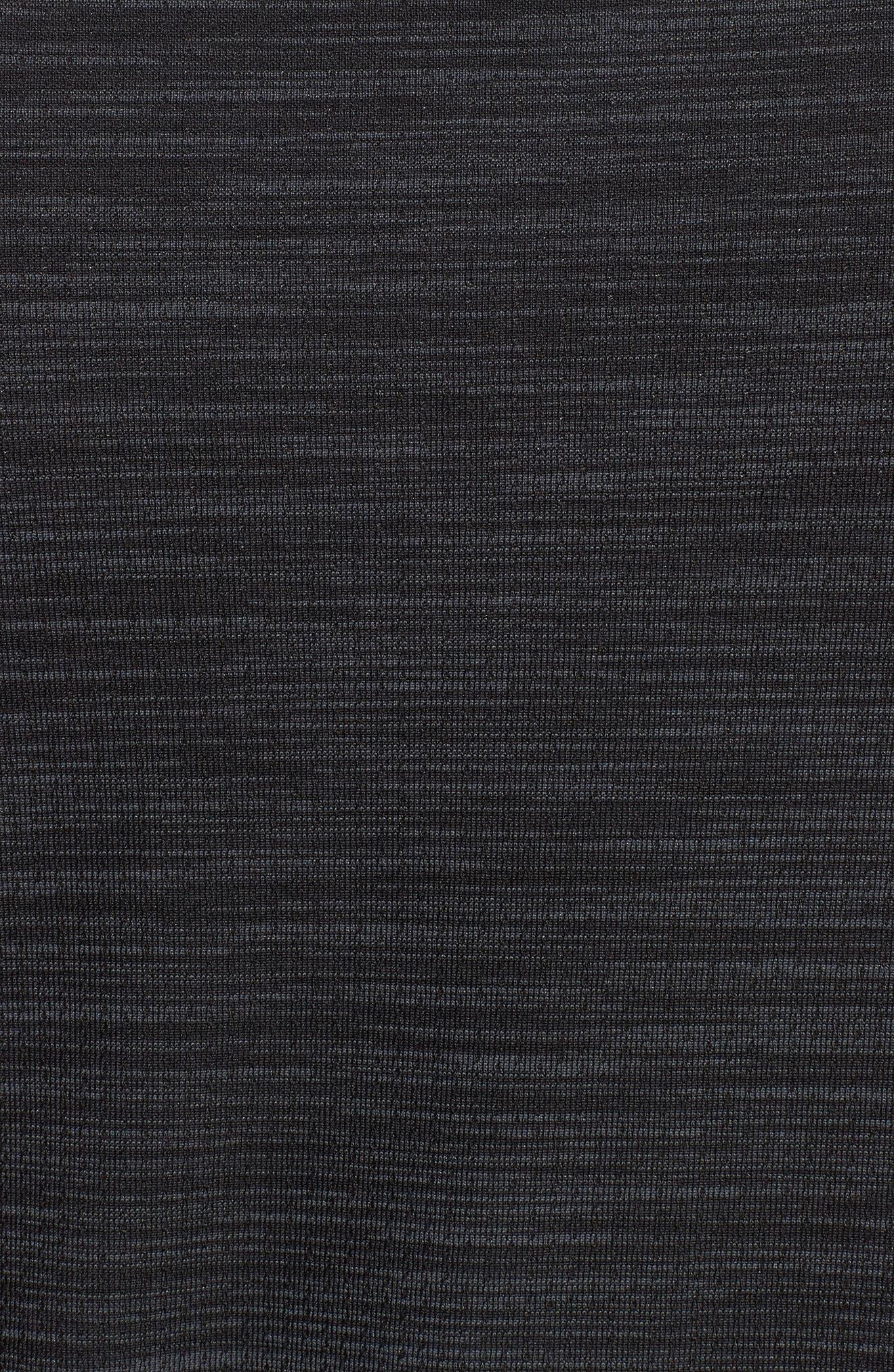 Siphon Regular Fit Half-Zip Pullover,                             Alternate thumbnail 5, color,                             BLACK