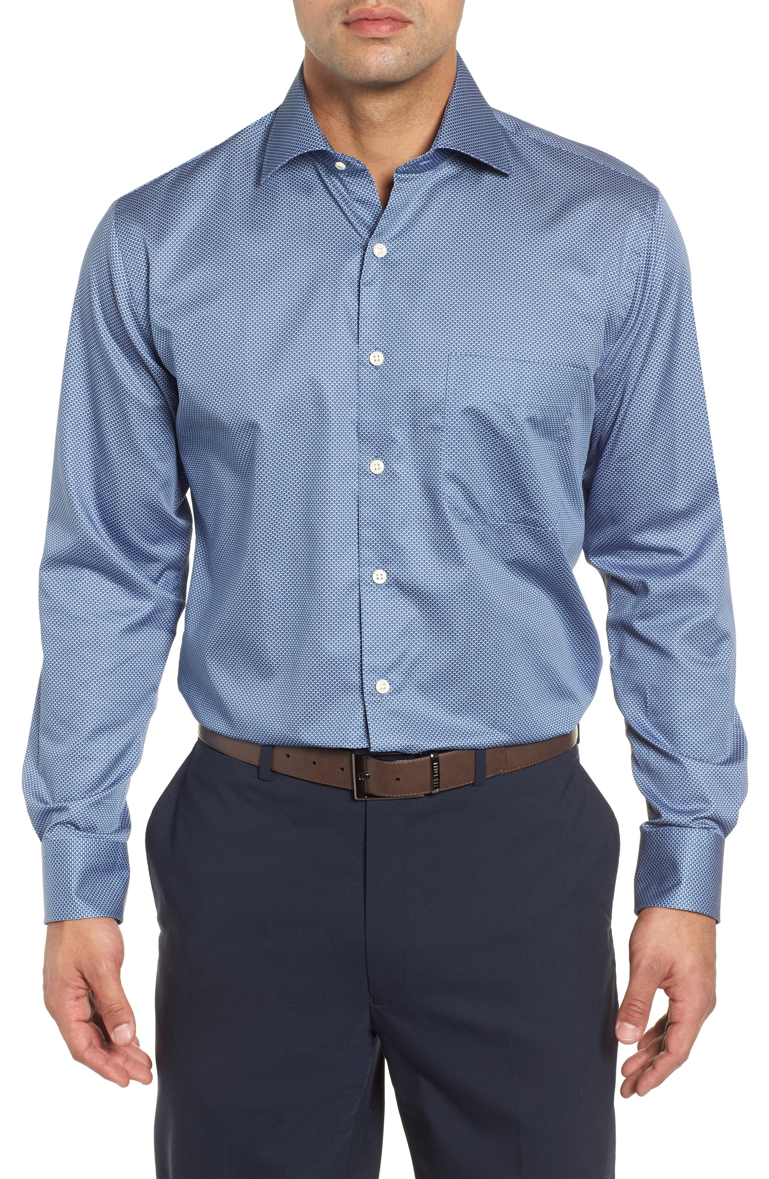 Off the Scale Sport Shirt,                         Main,                         color, YANKEE BLUE