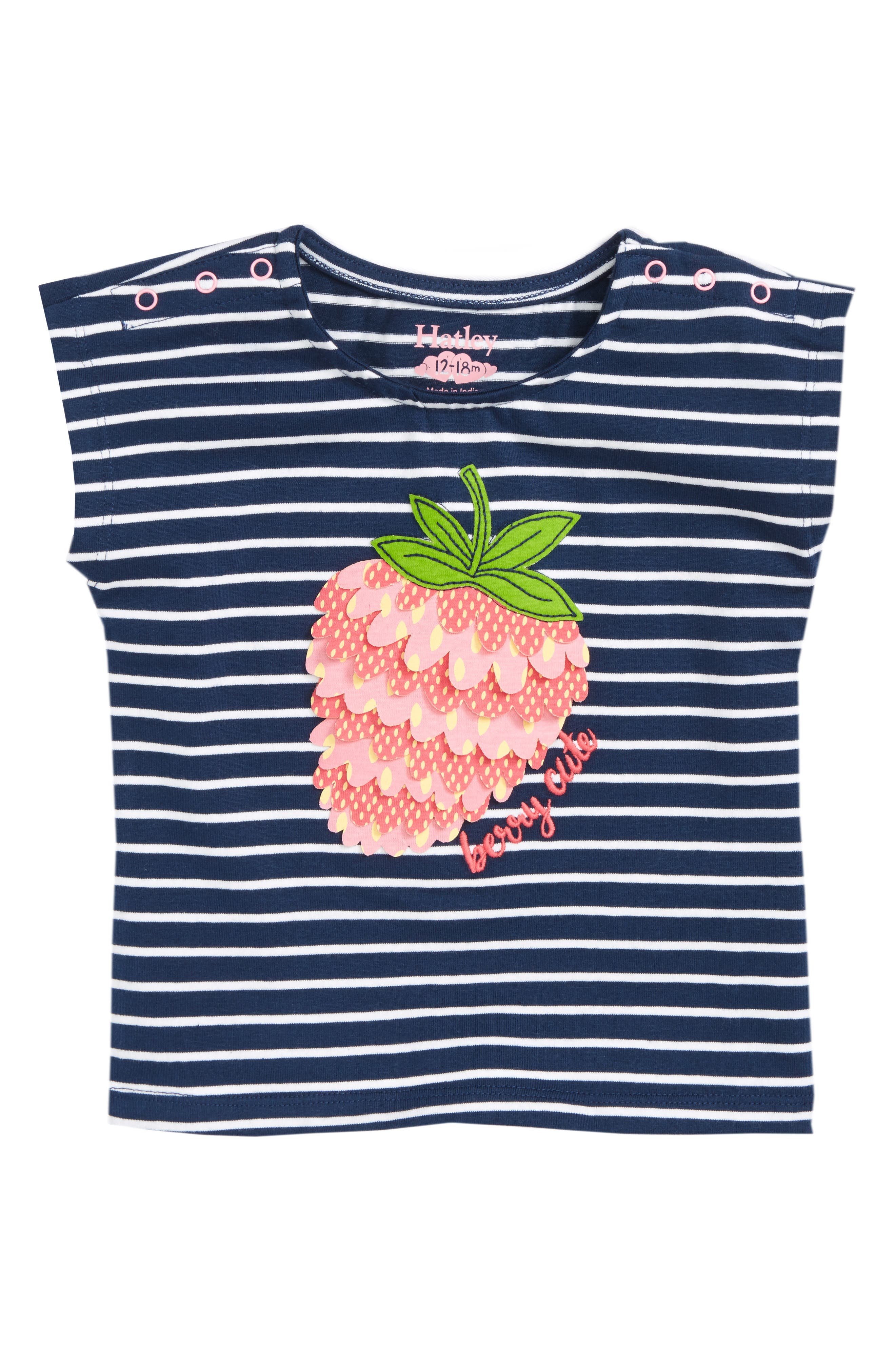 Berry Cute Stripe Tee,                         Main,                         color, 400