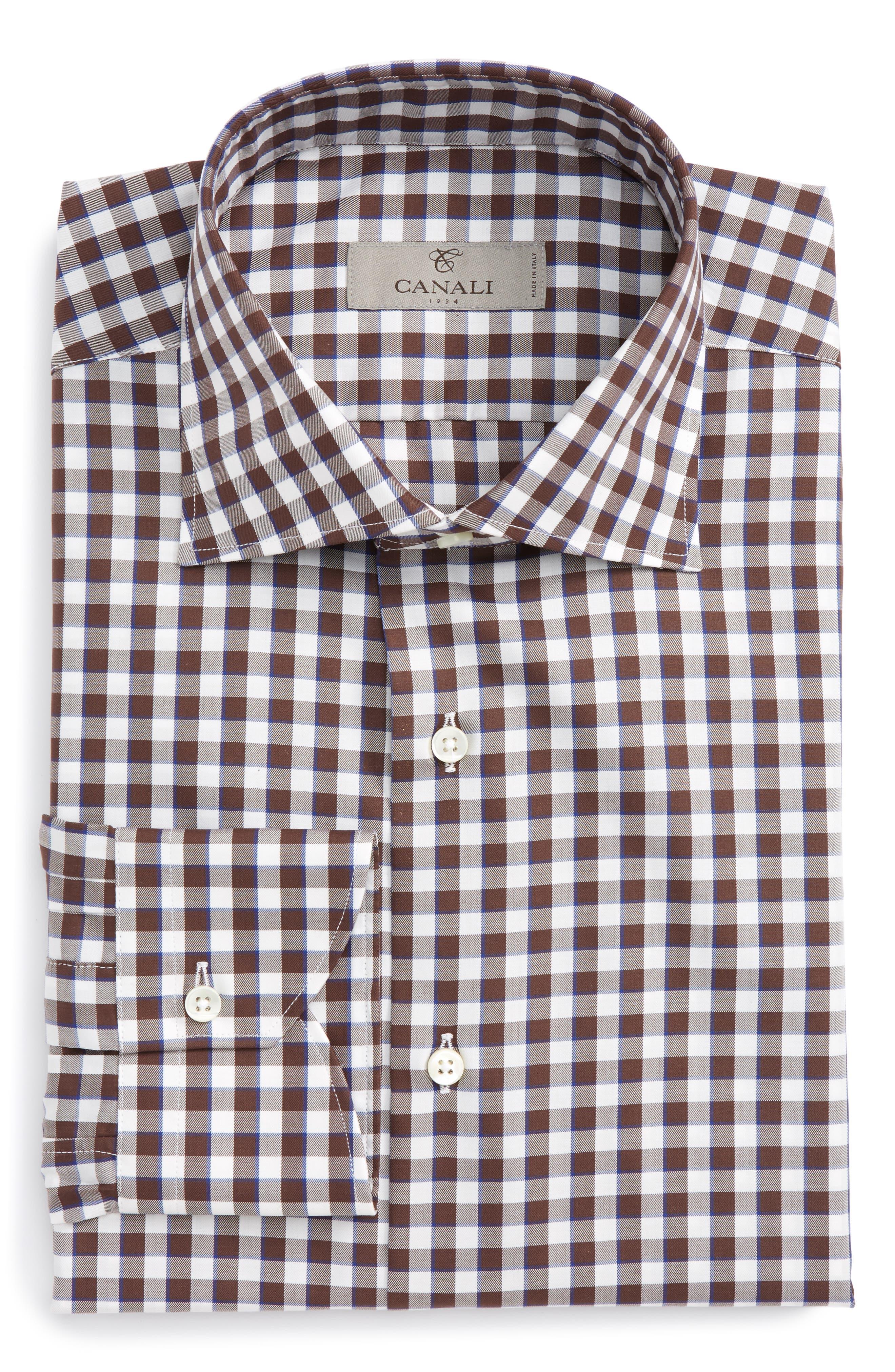 Regular Fit Check Dress Shirt,                             Main thumbnail 1, color,                             210