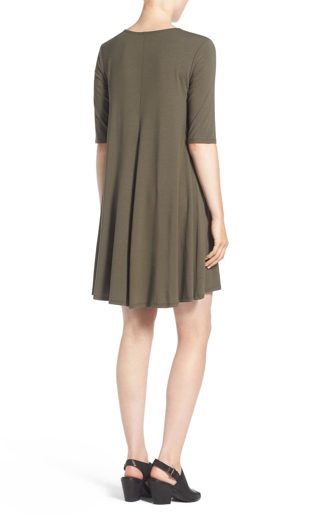 Lightweight Jersey Round Neck Tunic,                             Alternate thumbnail 9, color,