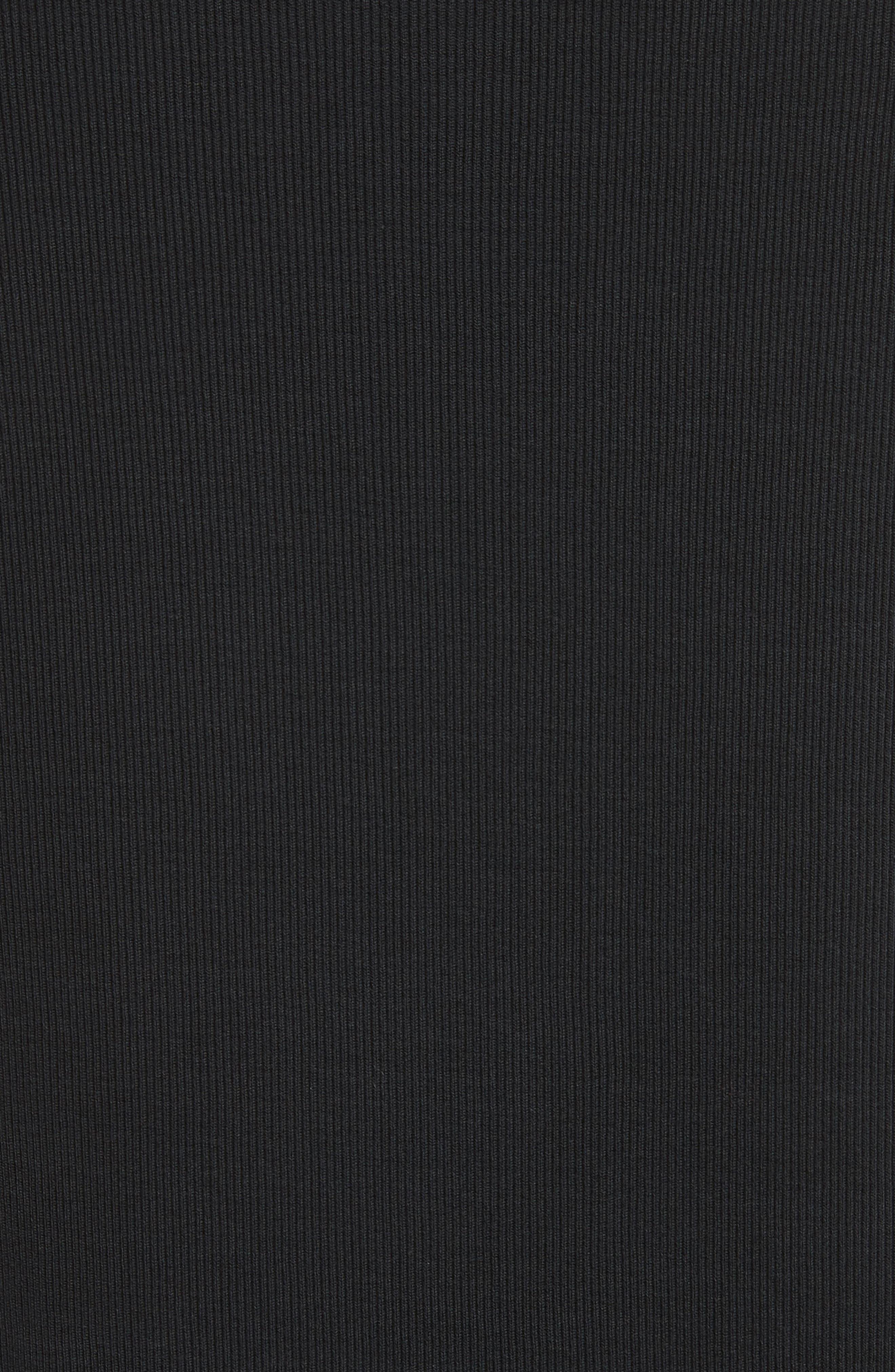 Tab Crewneck T-Shirt,                             Alternate thumbnail 5, color,                             BLACK