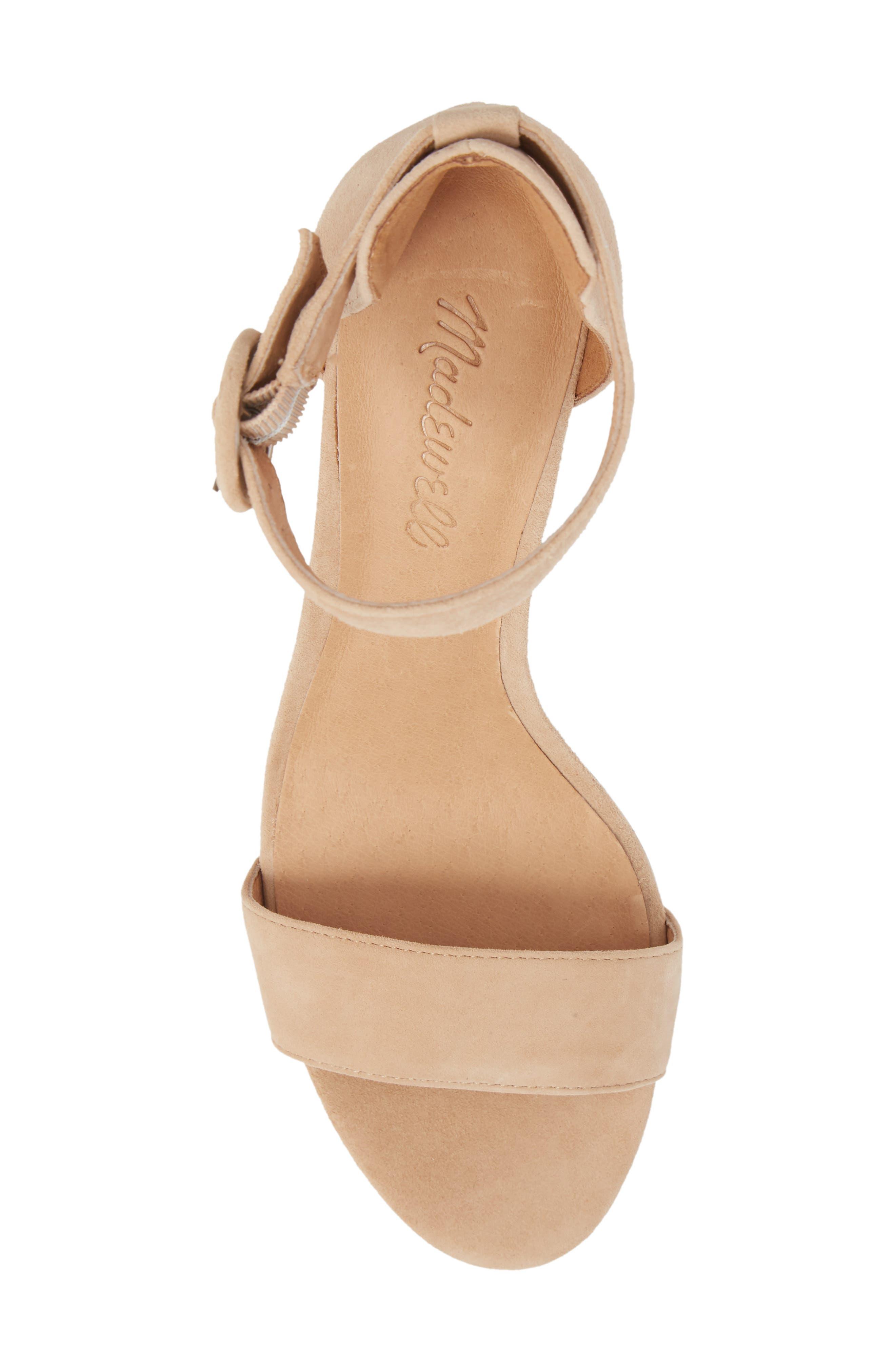 The Regina Ankle Strap Sandal,                             Alternate thumbnail 5, color,                             SAND DUNE SUEDE