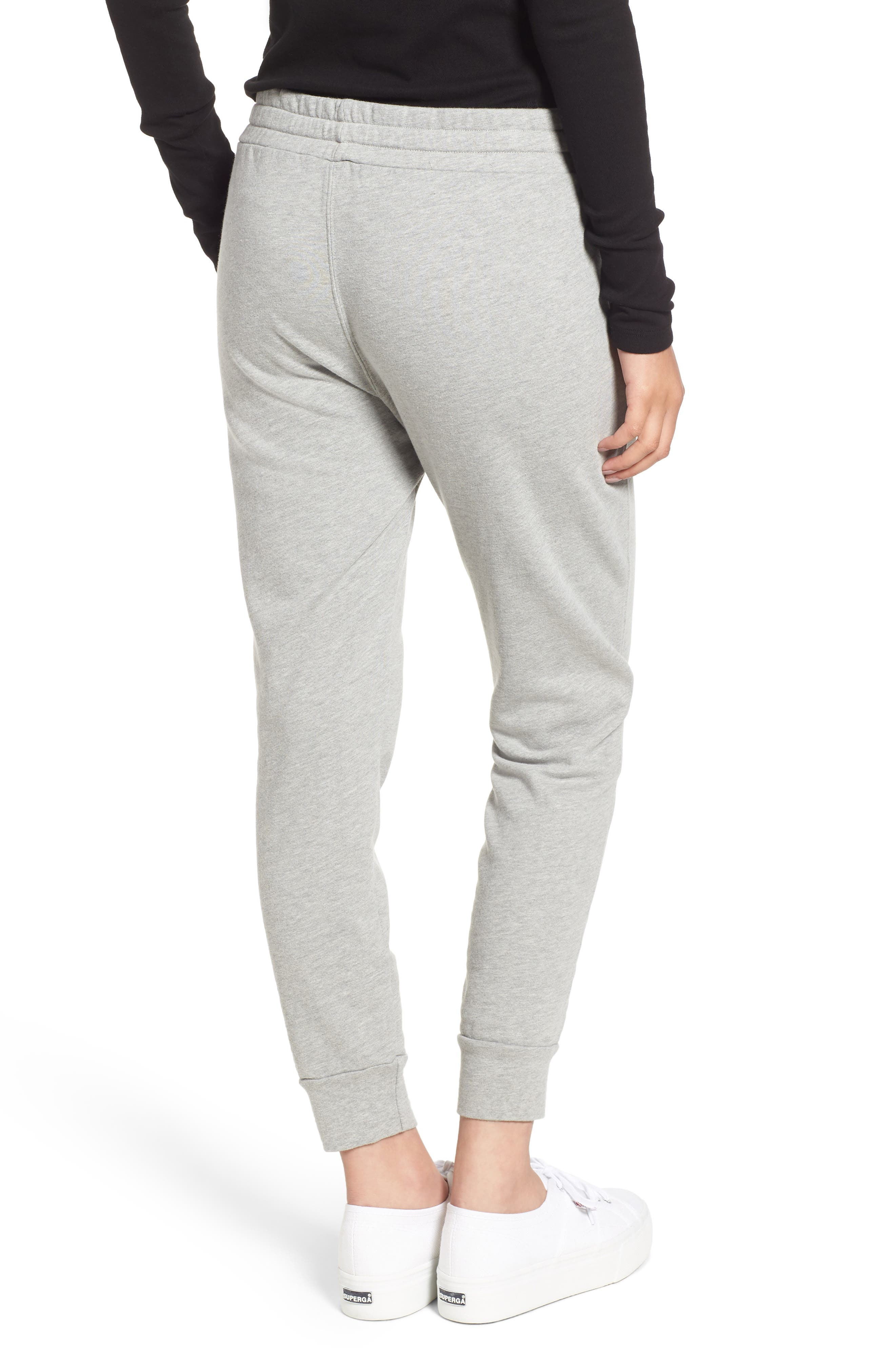 French Terry Joggers,                             Alternate thumbnail 2, color,                             HEATHER GREY