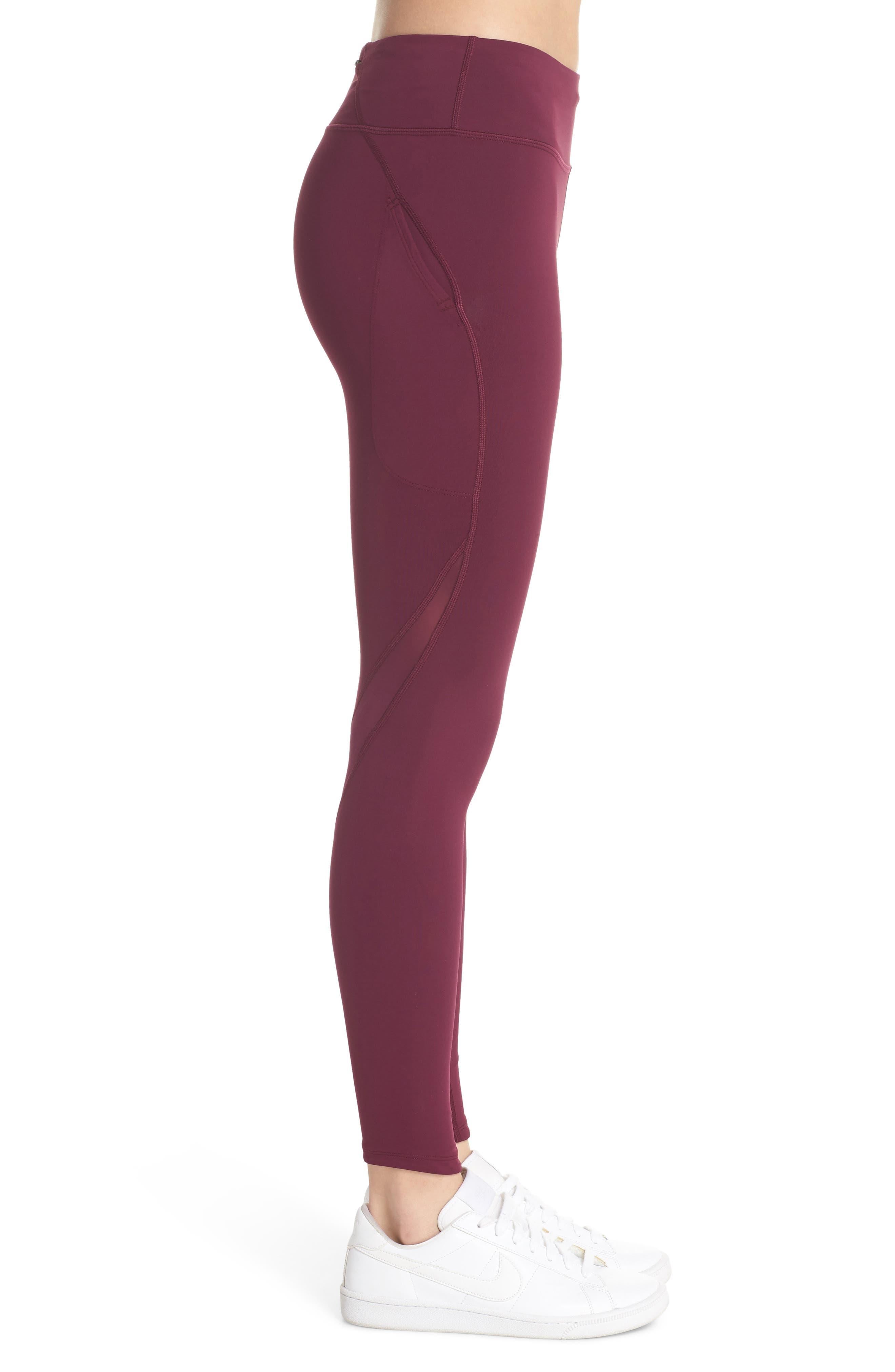 NikeLab Collection Dri-FIT Women's Tights,                             Alternate thumbnail 3, color,                             BORDEAUX