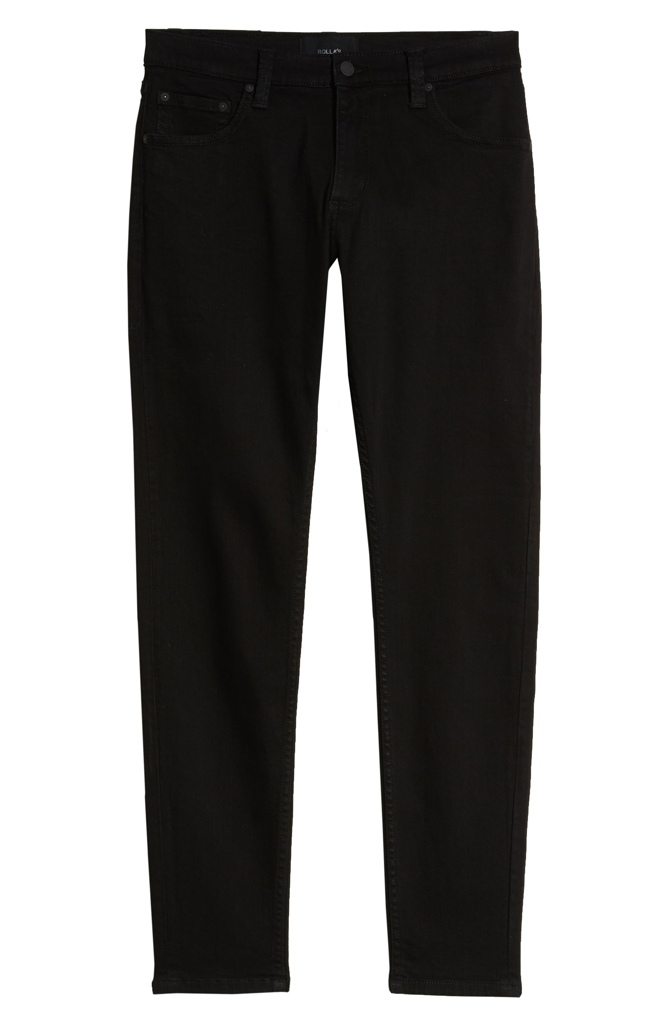 ROLLA'S,                             Stinger Skinny Fit Jeans,                             Alternate thumbnail 4, color,                             BLACK GOLD