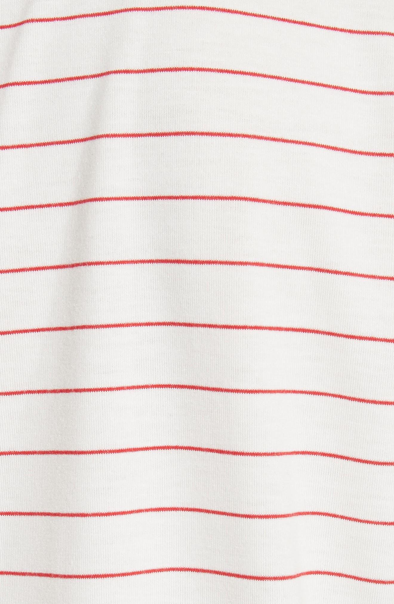 Stripe Crewneck T-Shirt,                             Alternate thumbnail 5, color,                             199