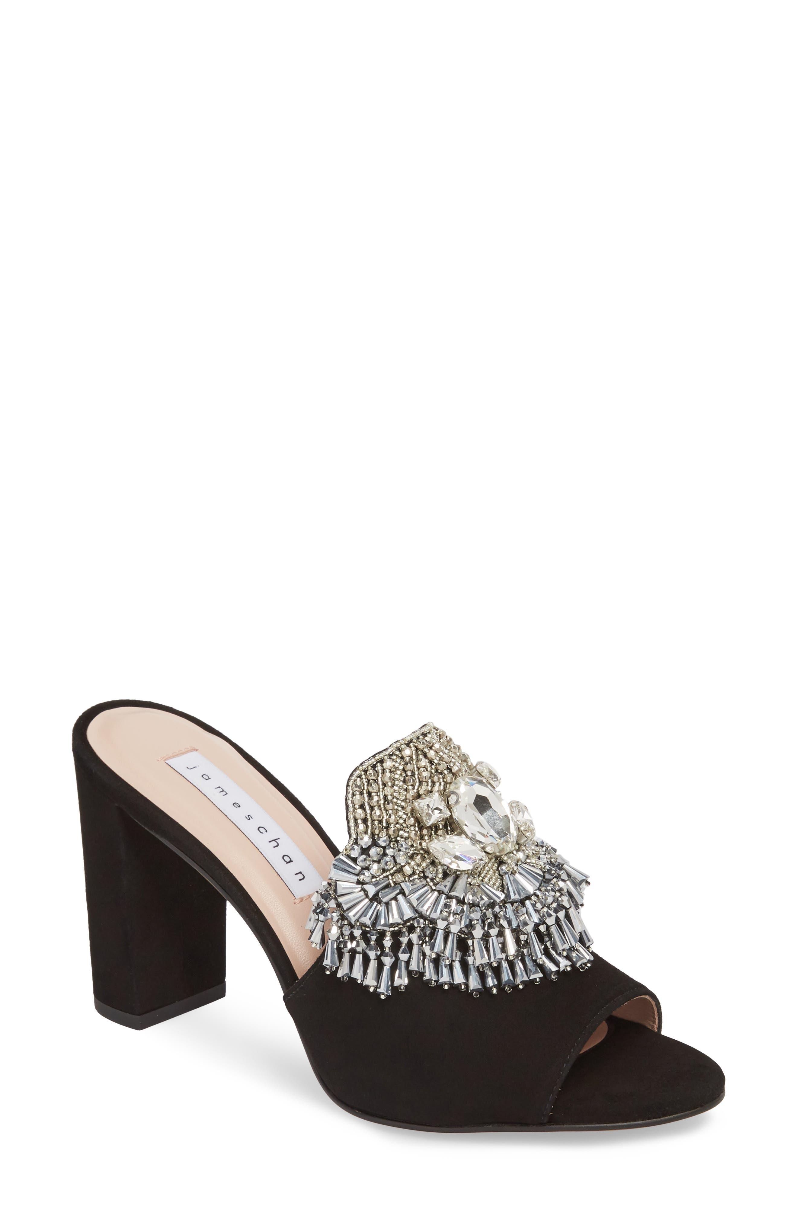 Adele Embellished Block Heel Sandal,                             Main thumbnail 1, color,                             001