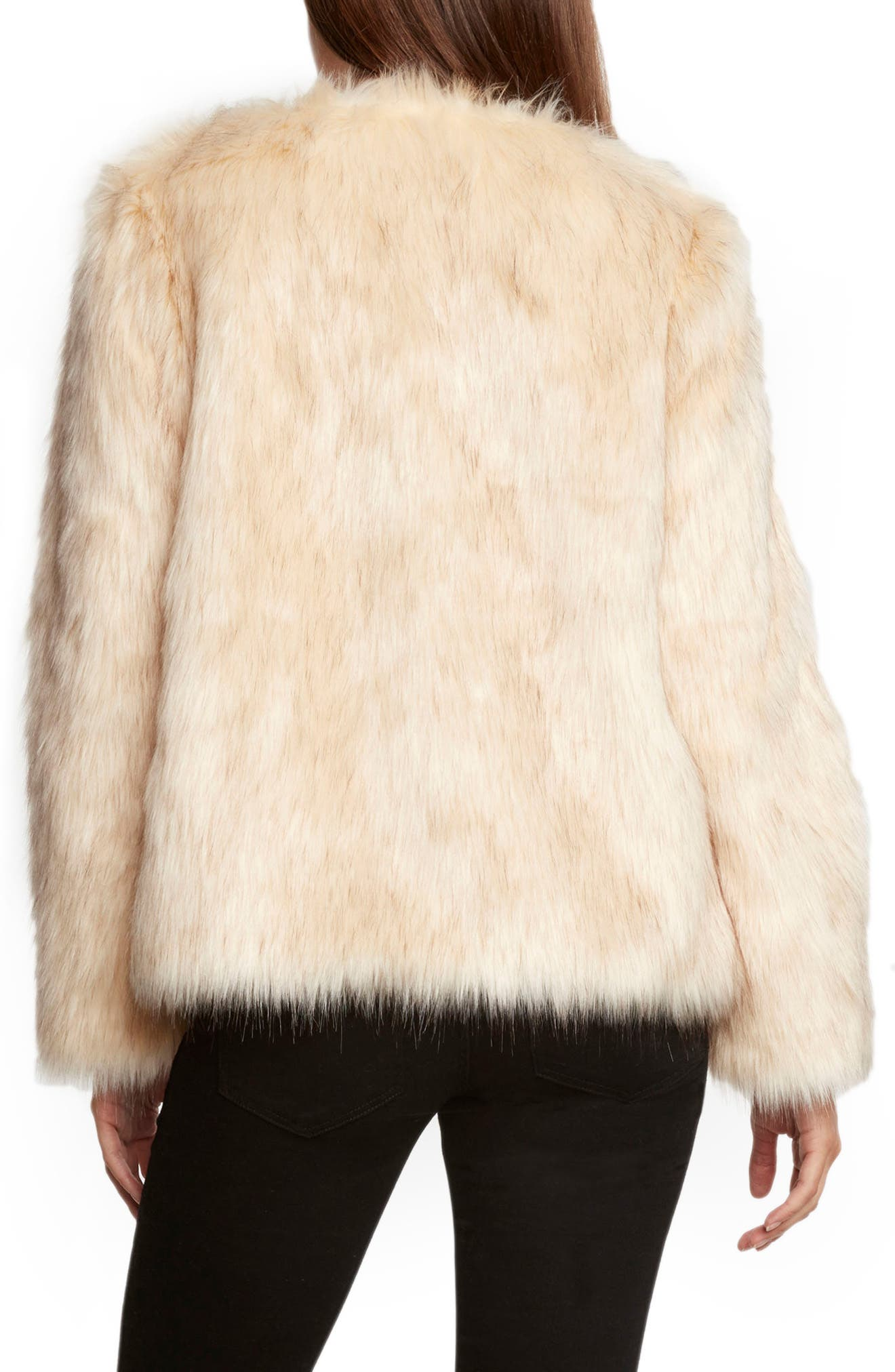 Faux Fur Jacket,                             Alternate thumbnail 2, color,