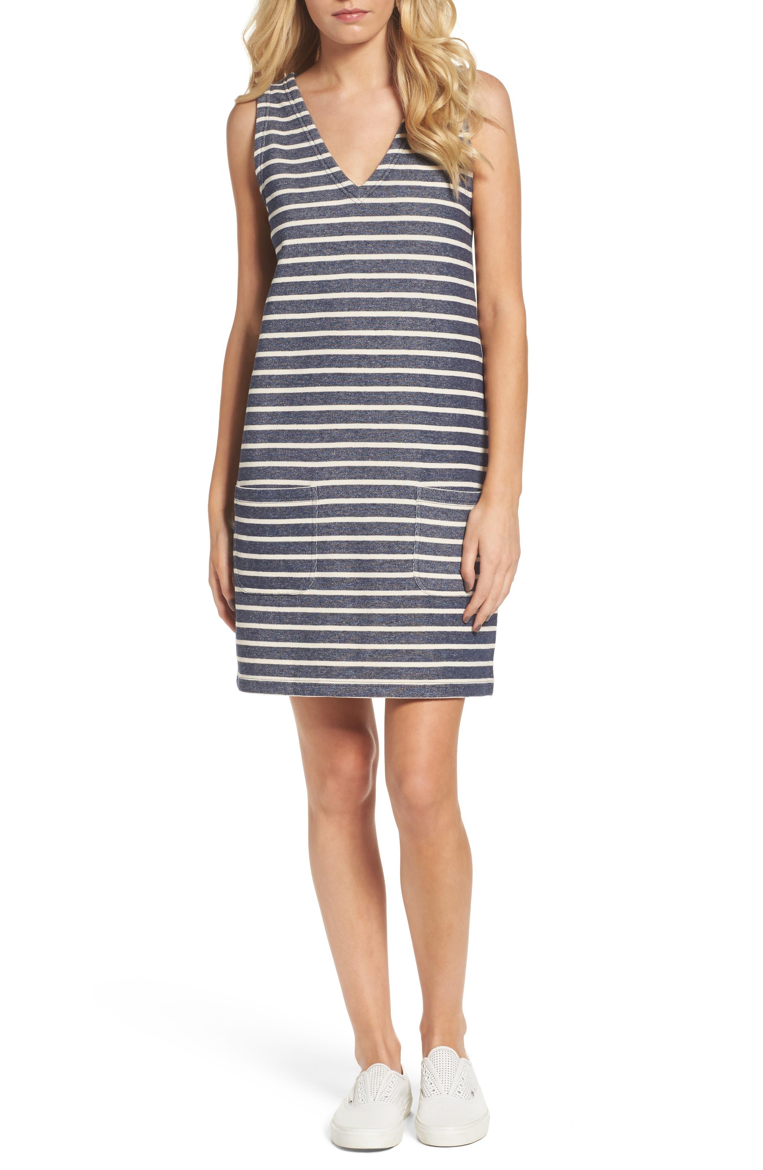 Normandy Stripe Dress,                             Main thumbnail 1, color,