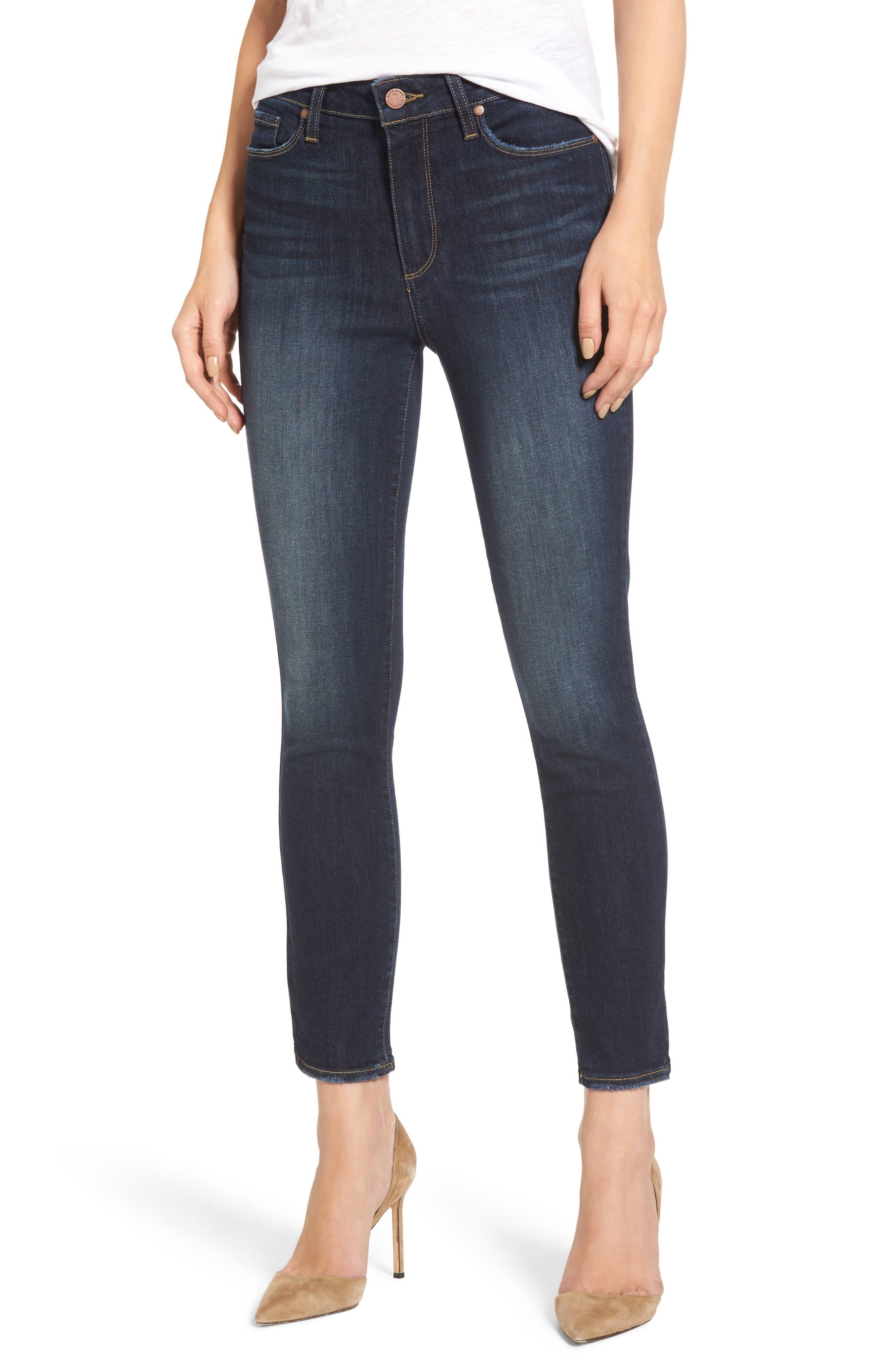 Hoxton Crop High Waist Skinny Jeans,                         Main,                         color, 400