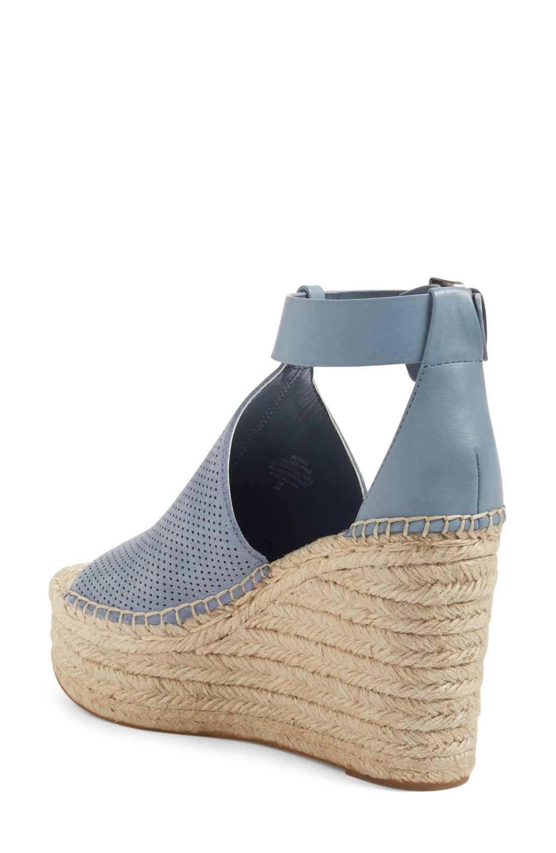 Annie Perforated Espadrille Platform Wedge,                             Alternate thumbnail 10, color,