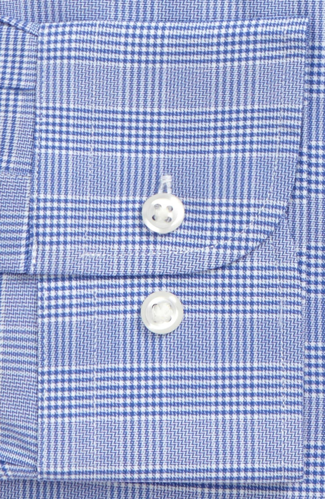 Tech-Smart Traditional Fit Stretch Plaid Dress Shirt,                             Alternate thumbnail 10, color,