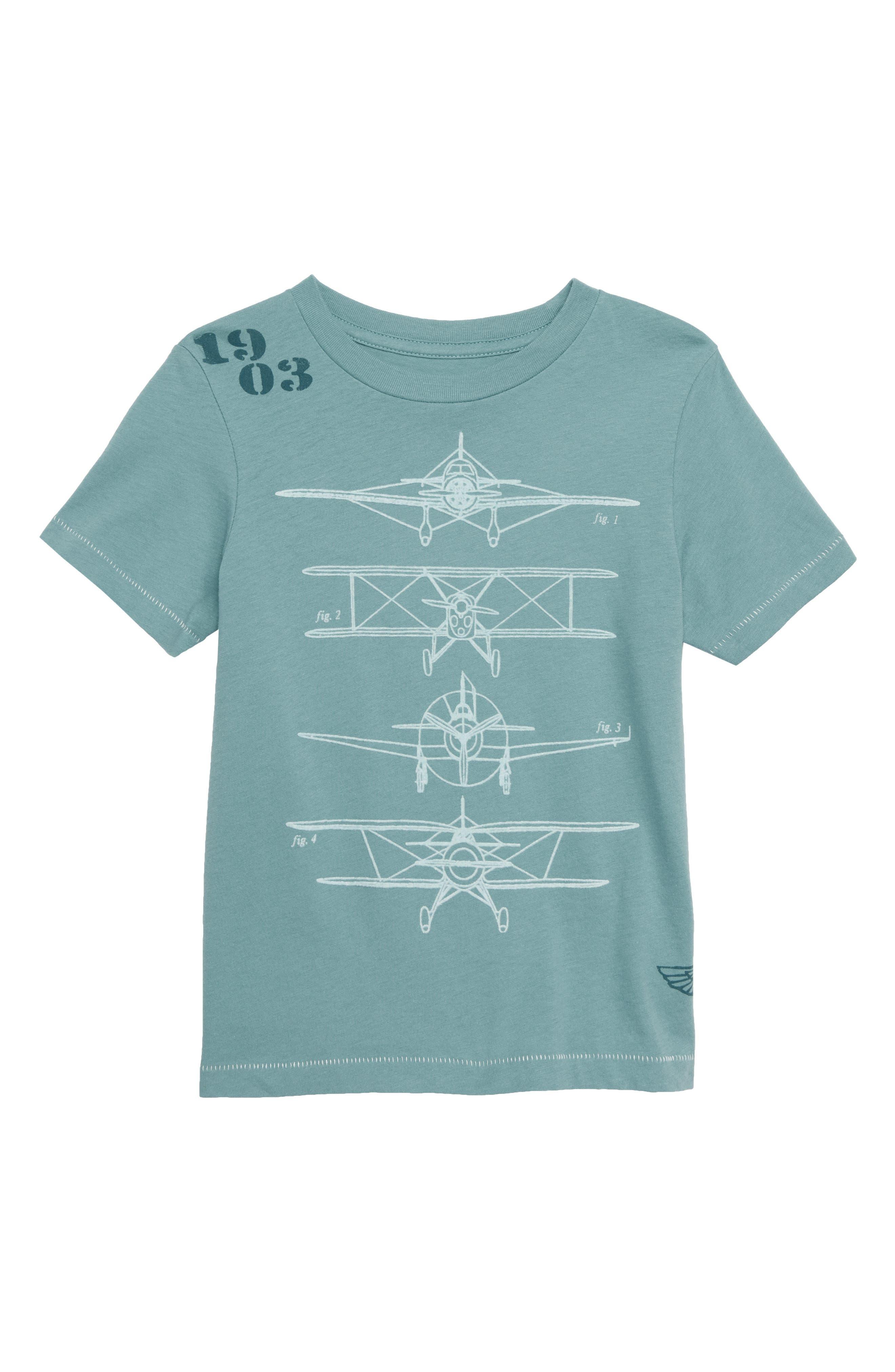 Airplane Graphic T-Shirt,                             Main thumbnail 1, color,                             MARINE BLUE