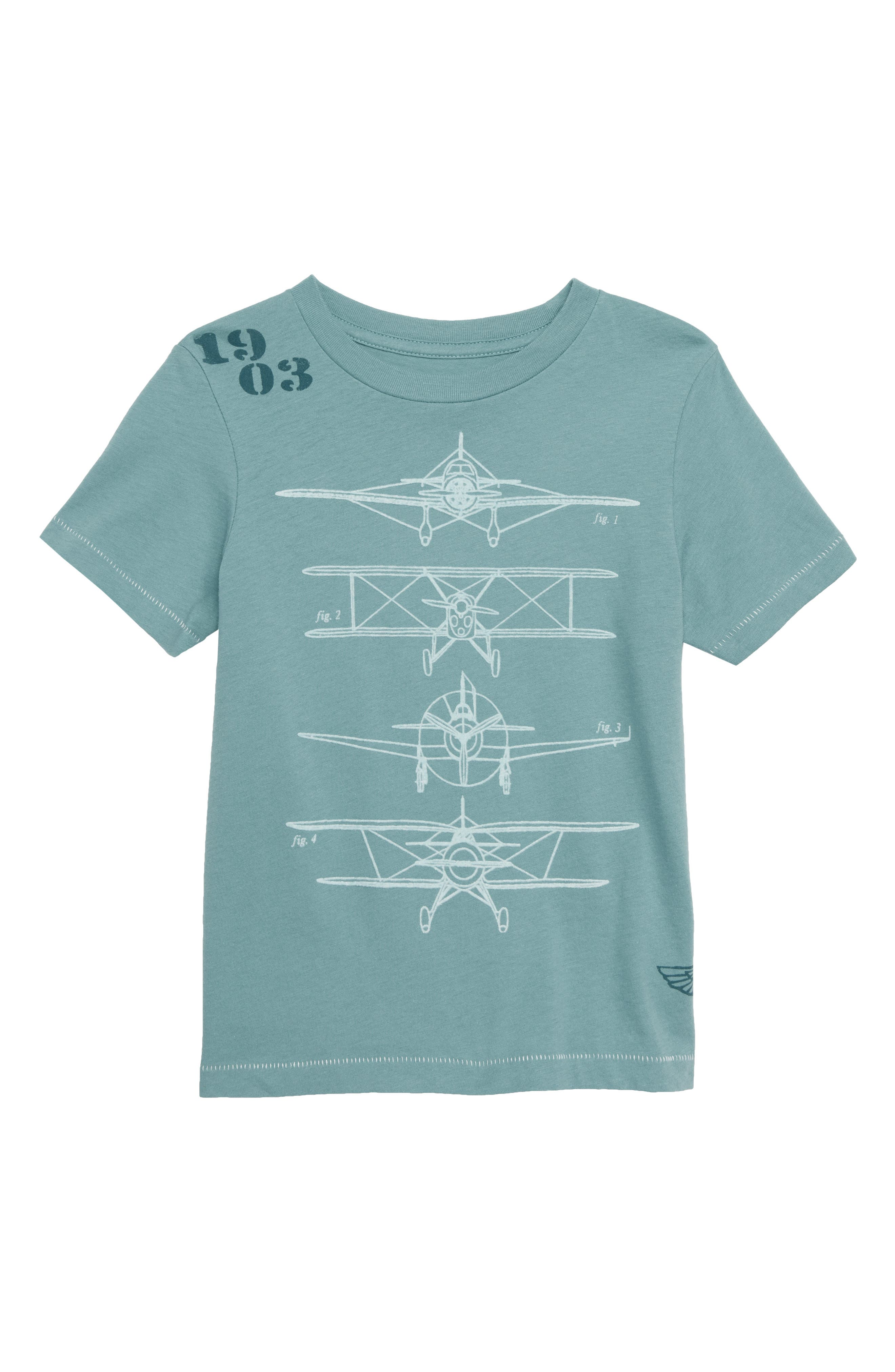 Peek Airplane Graphic T-Shirt,                         Main,                         color, 400