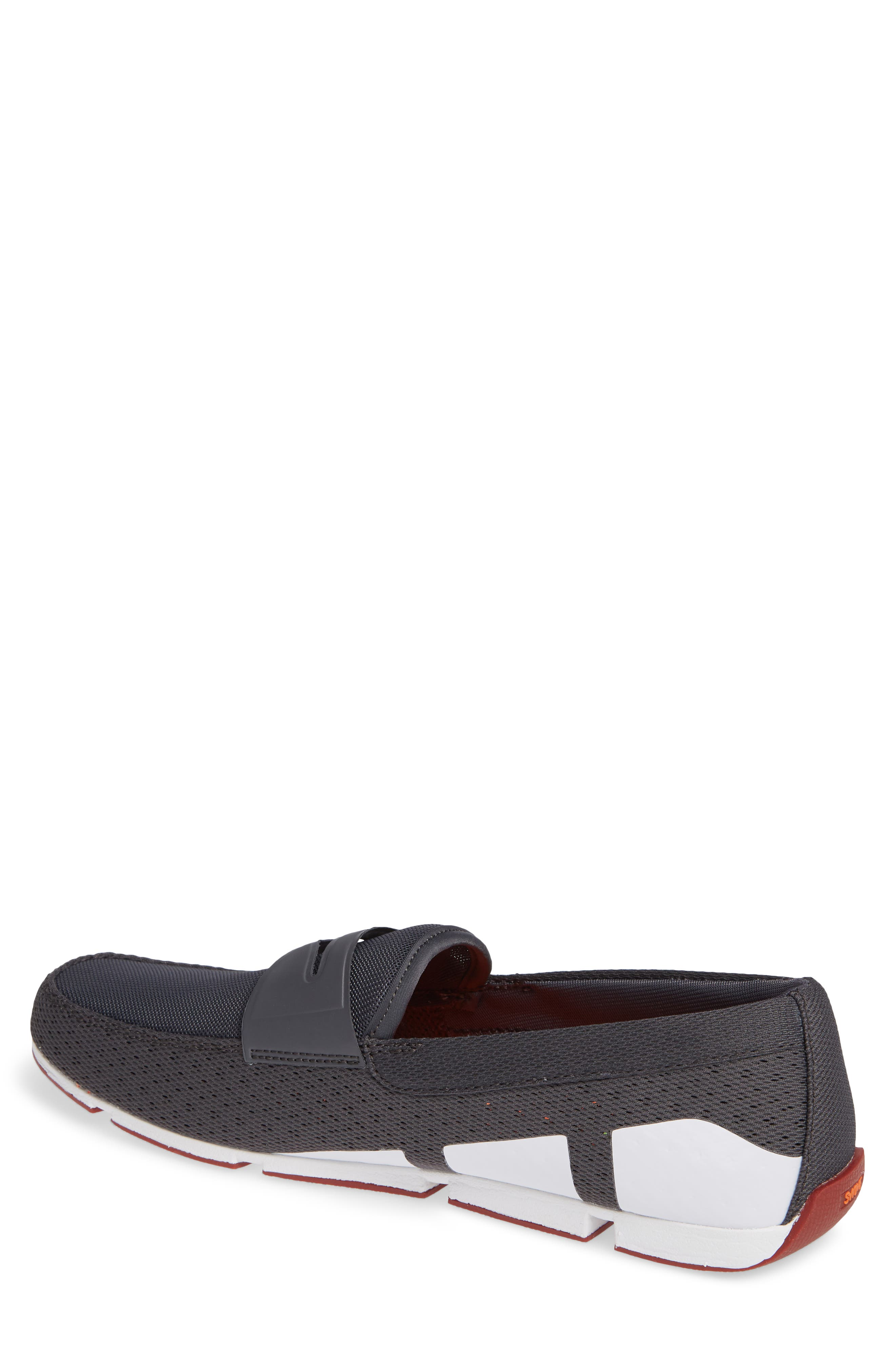 Breeze Penny Loafer,                             Alternate thumbnail 2, color,                             DARK GRAY/RED LACQUER