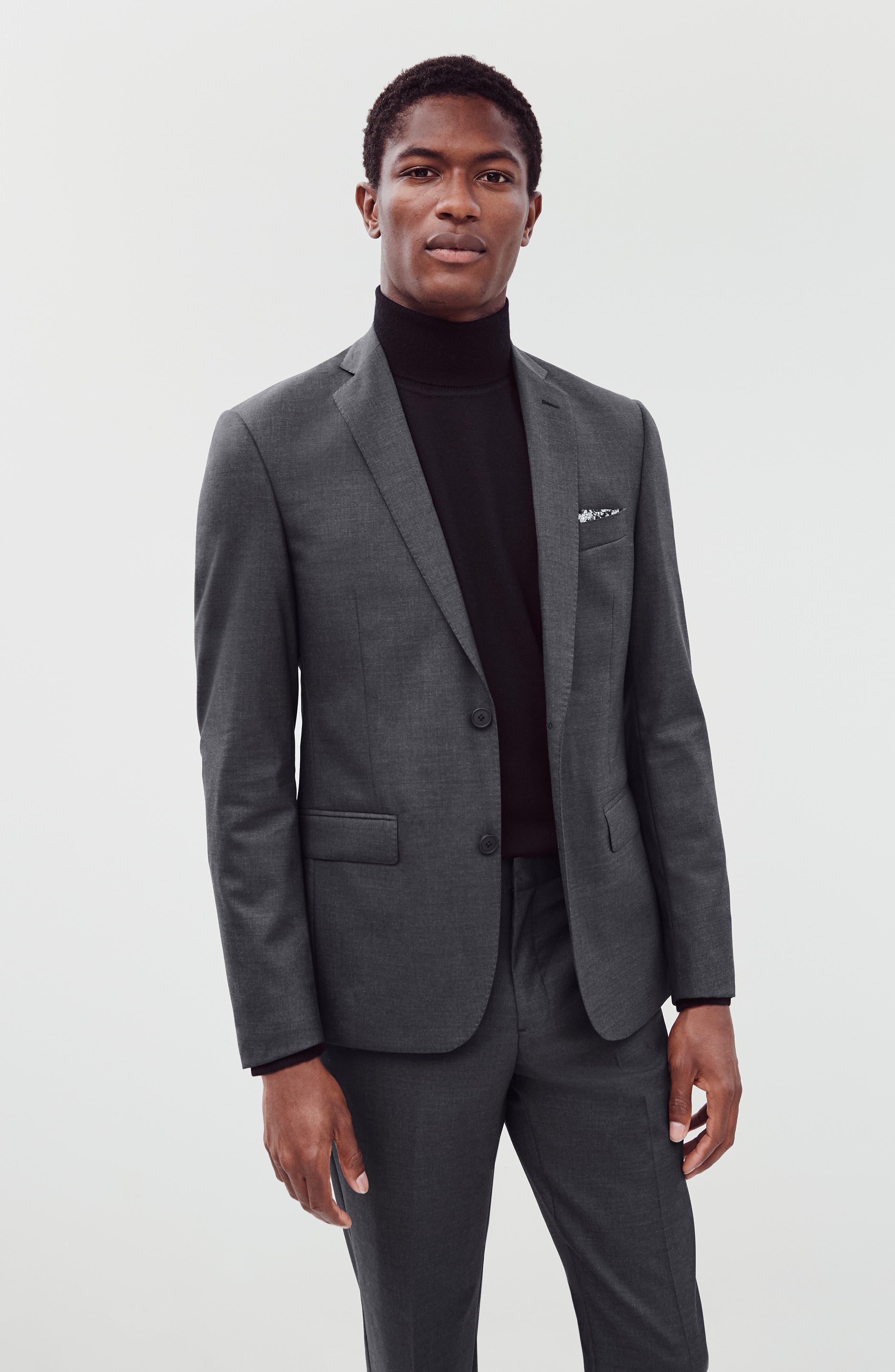 Merino Wool Turtleneck Sweater,                             Alternate thumbnail 10, color,                             BLACK CAVIAR