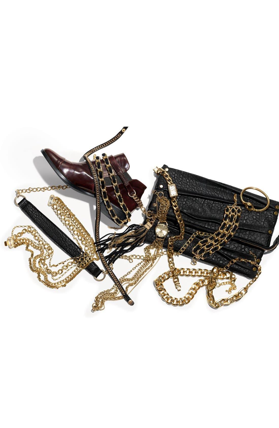 Leather Wrap Bracelet,                             Alternate thumbnail 4, color,                             001