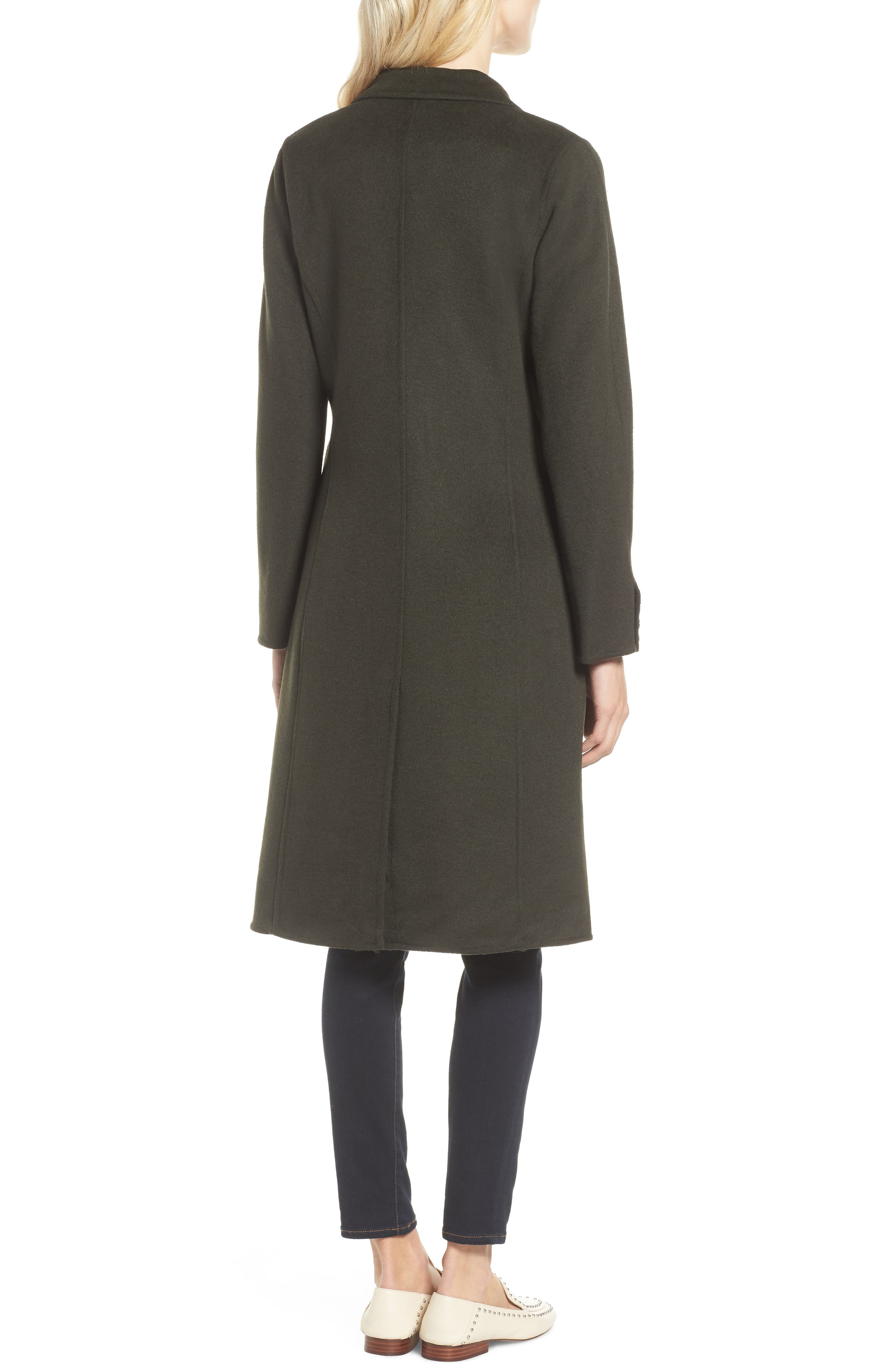 Taylor Double Breasted Wool Coat,                             Alternate thumbnail 2, color,                             300