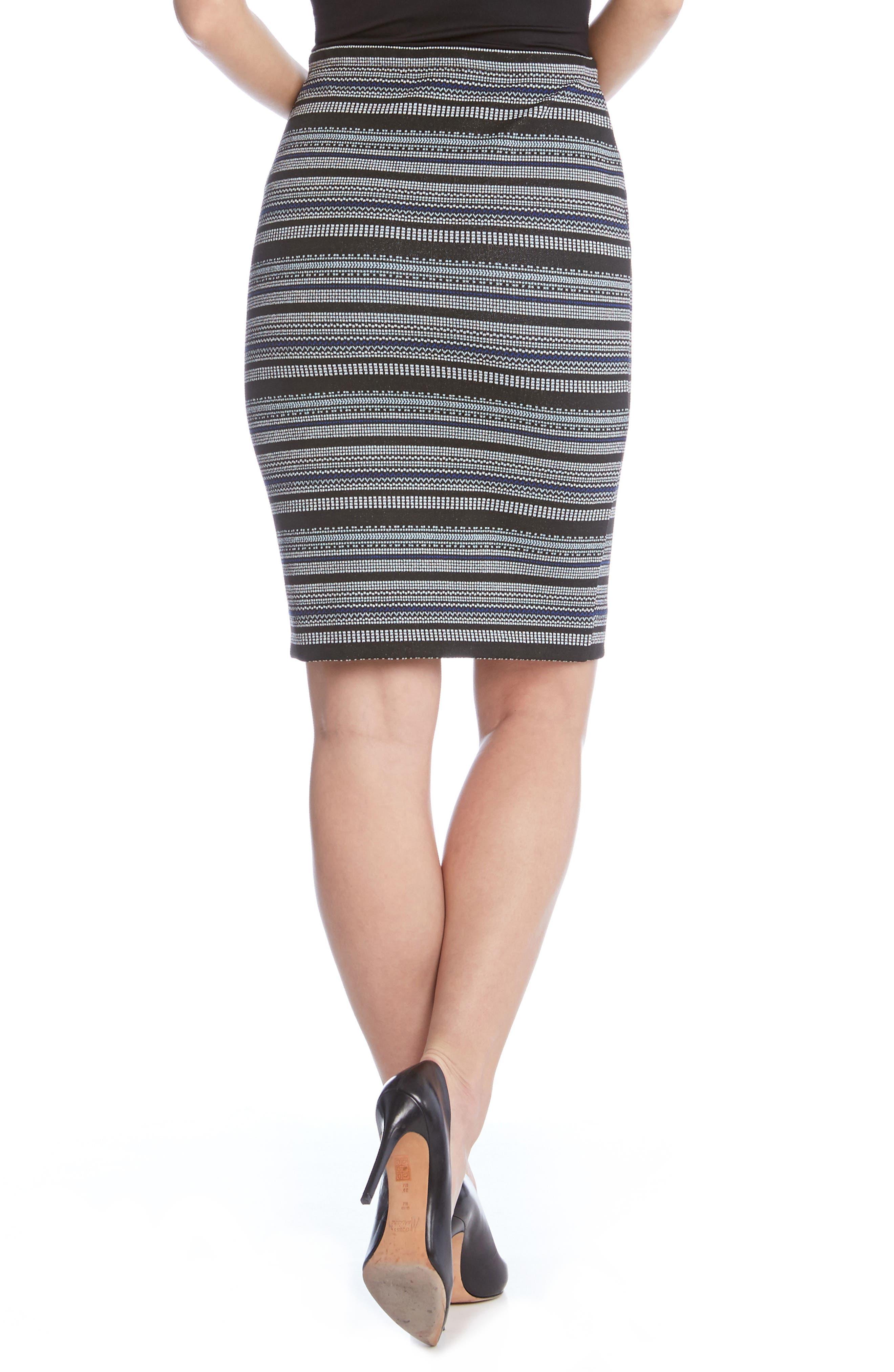 Jacquard Pencil Skirt,                             Alternate thumbnail 2, color,                             008