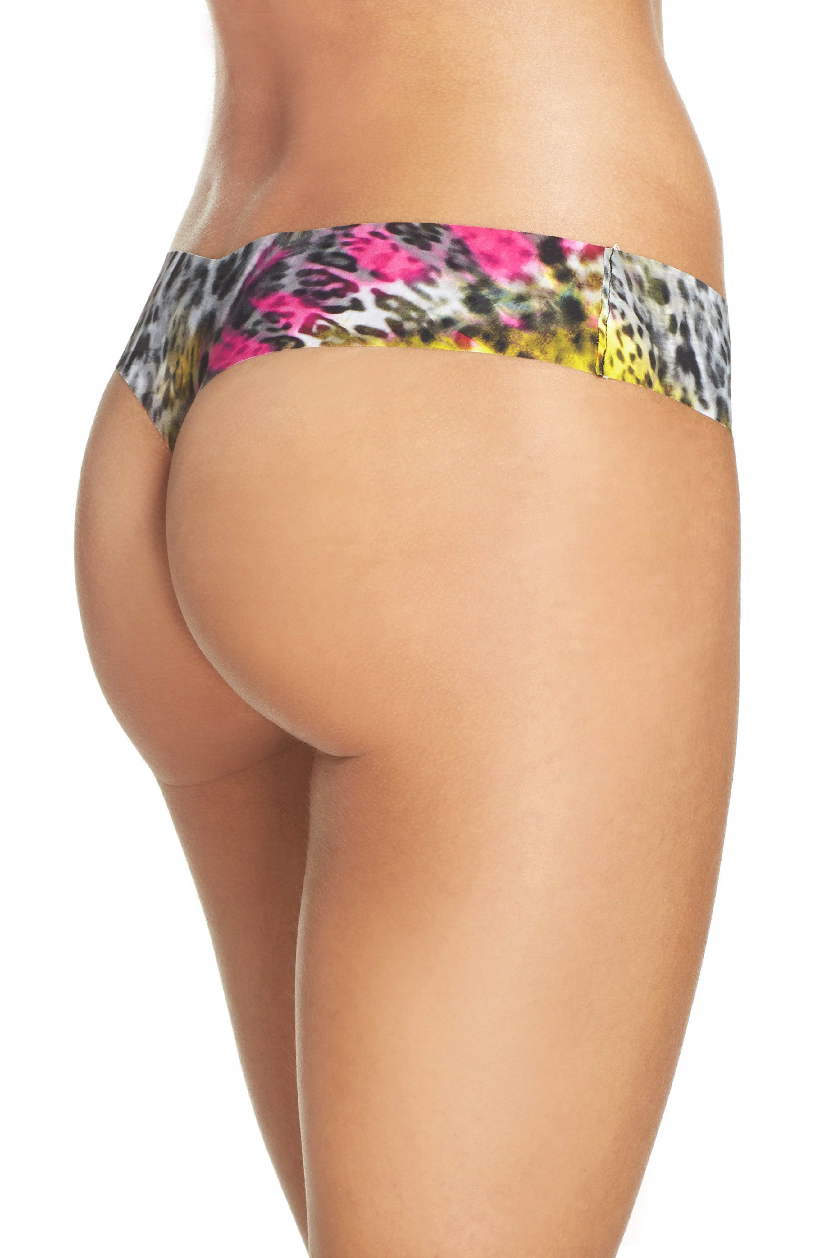 Print Microfiber Thong,                             Alternate thumbnail 245, color,