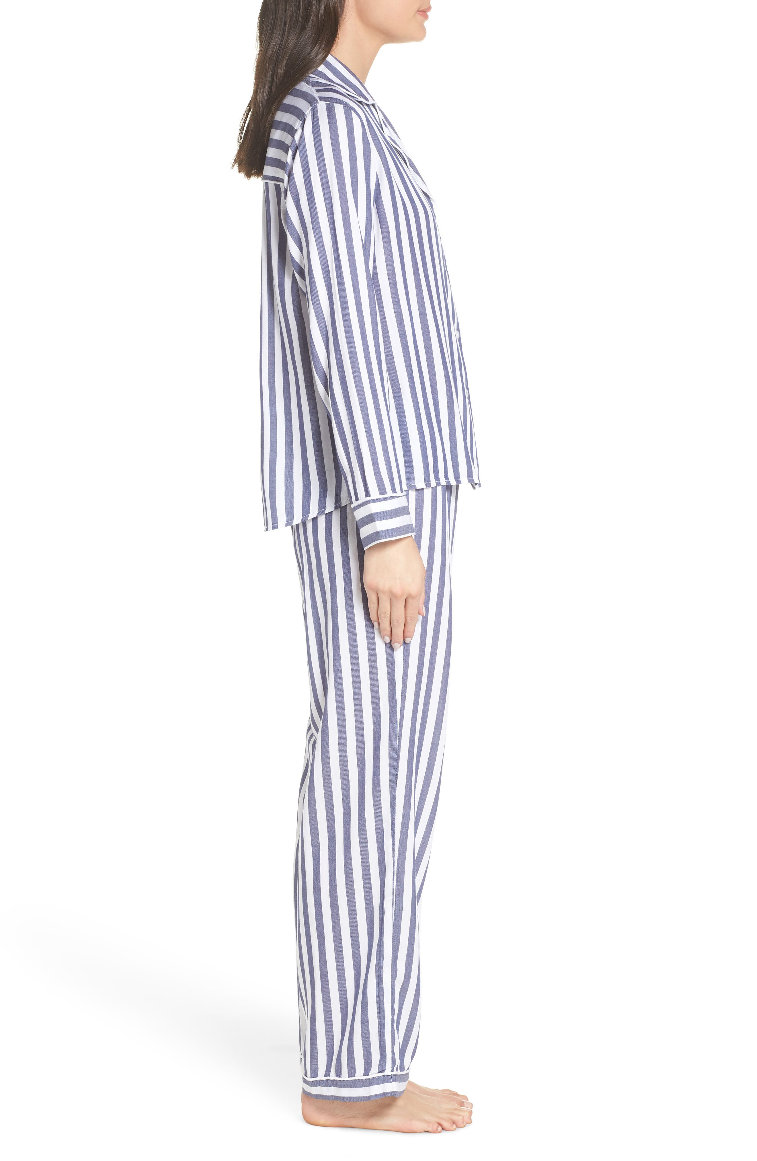 Stripe Pajamas,                             Alternate thumbnail 3, color,                             ALBANY STRIPE