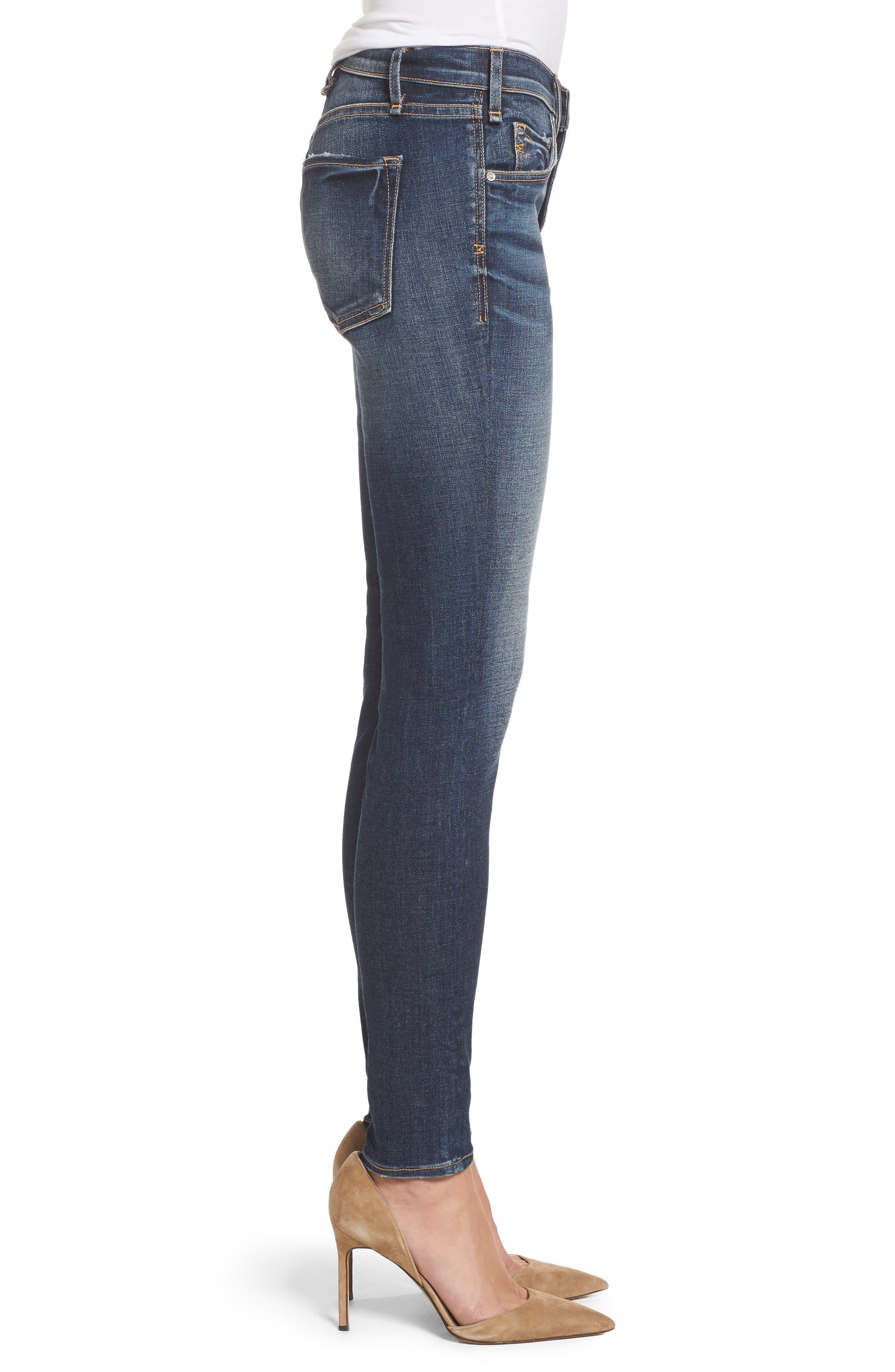 Newton High Waist Skinny Jeans,                             Alternate thumbnail 3, color,                             420