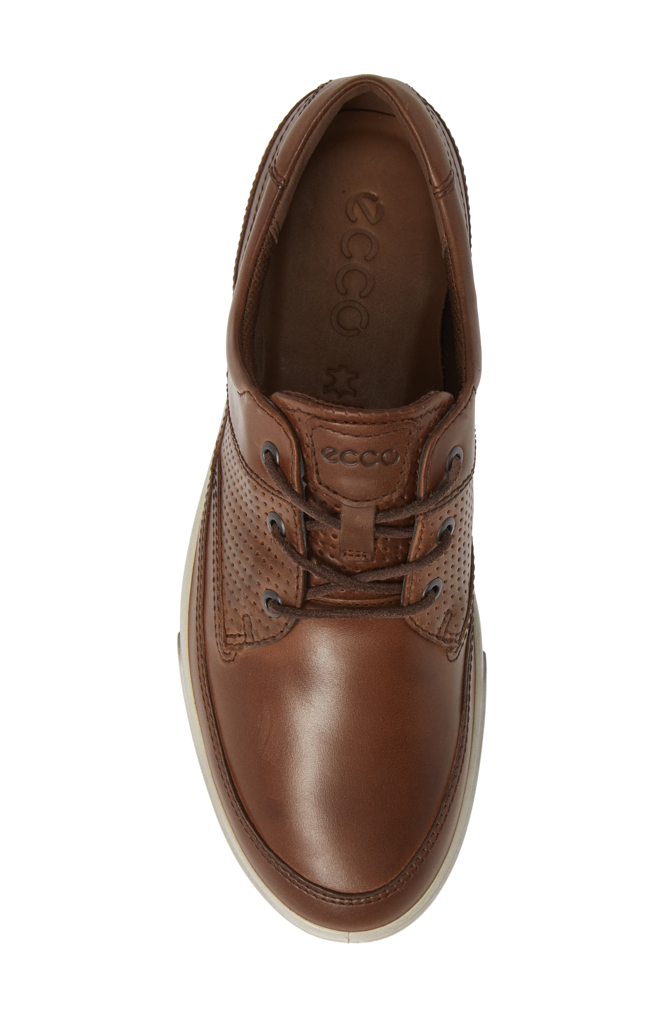 'Collin' Nautical Sneaker,                             Alternate thumbnail 5, color,                             COCOA BROWN LEATHER