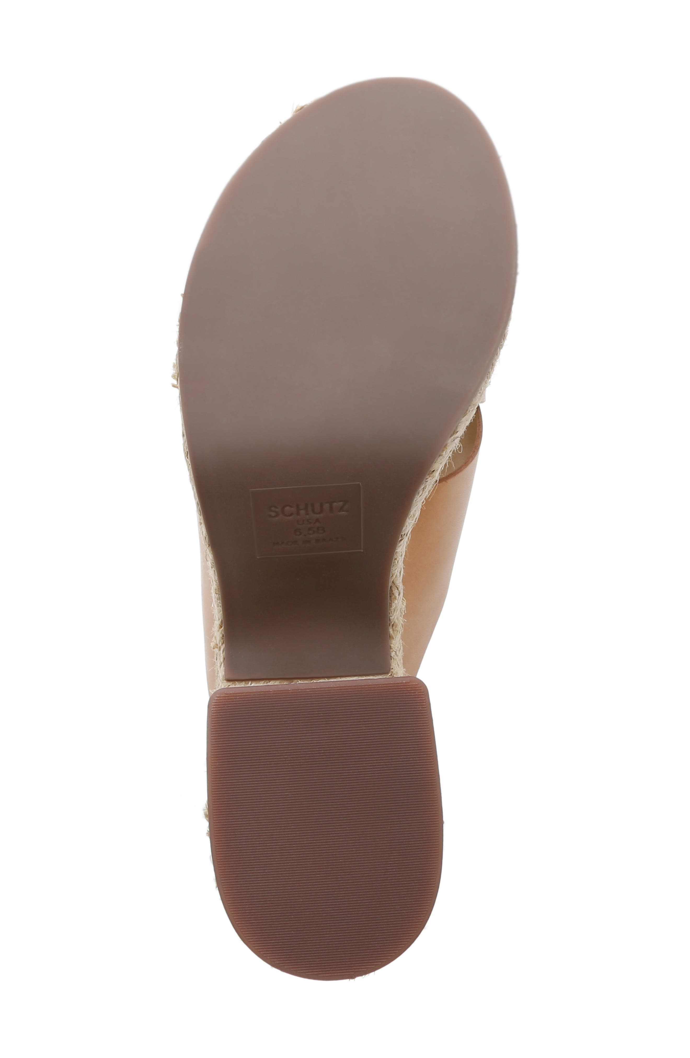 Lora Platform Wedge Sandal,                             Alternate thumbnail 6, color,                             HONEY BEIGE LEATHER