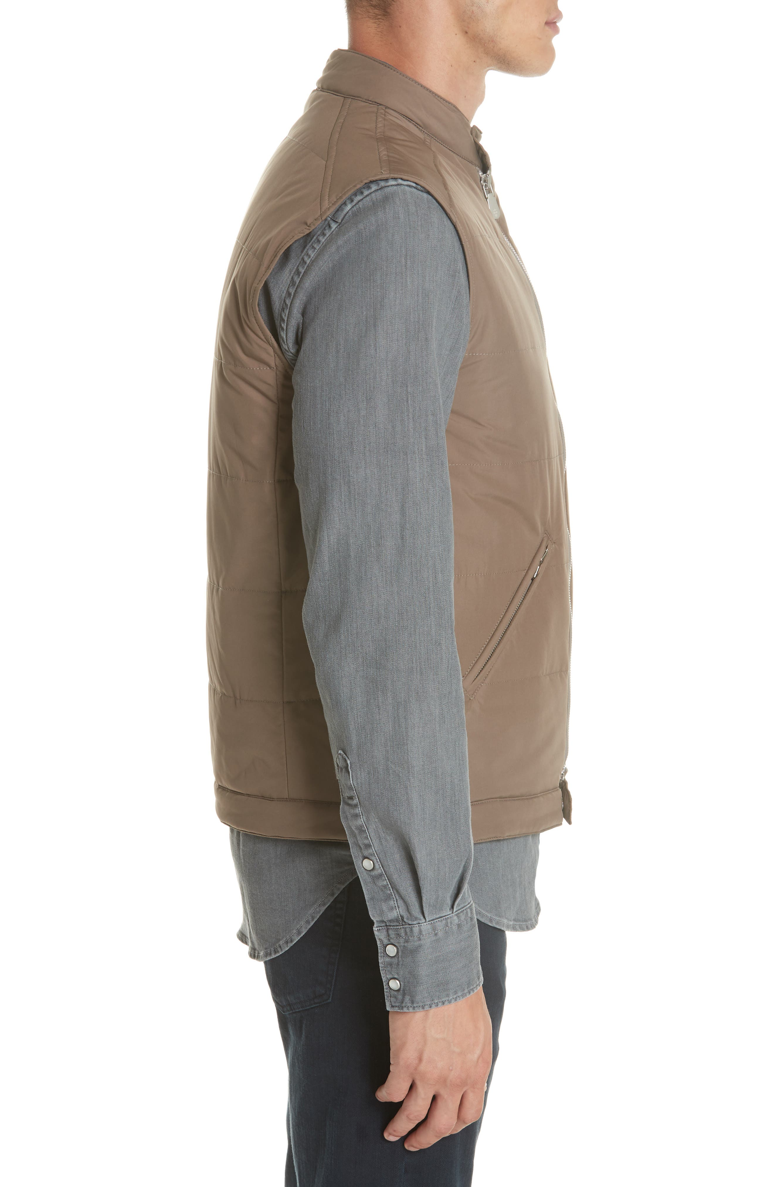 Quilted Vest,                             Alternate thumbnail 3, color,                             TAUPE