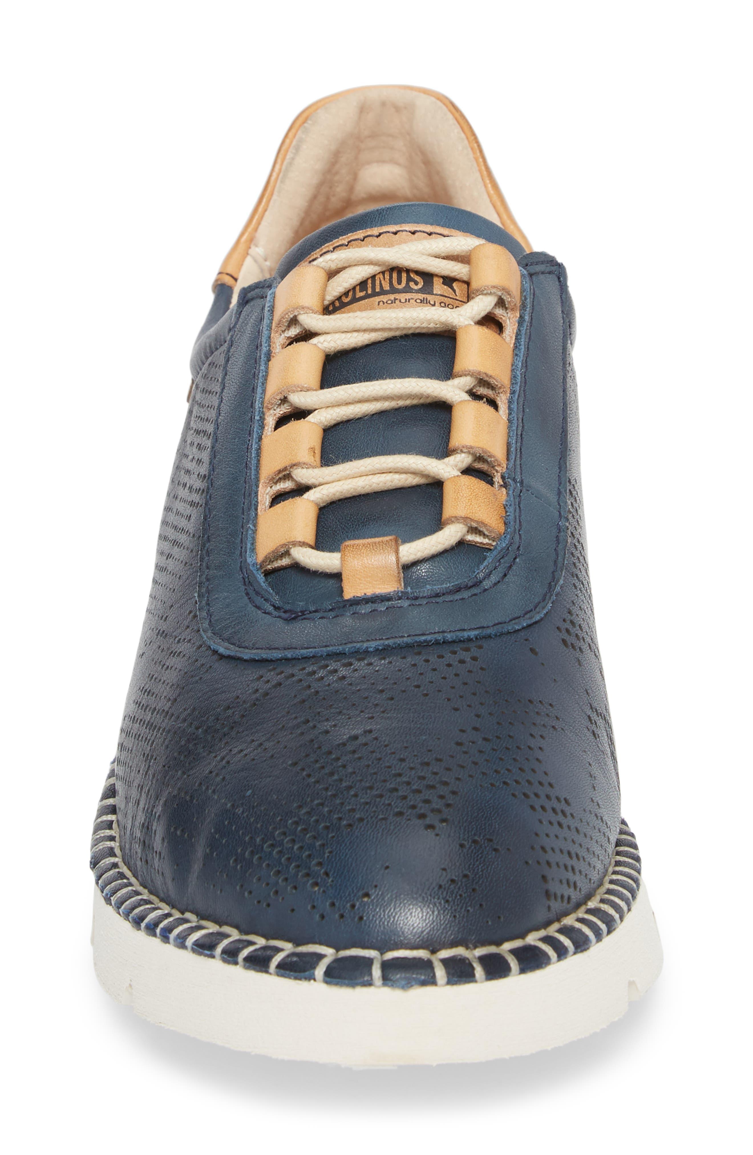 Vera Sneaker,                             Alternate thumbnail 4, color,                             OCEAN LEATHER
