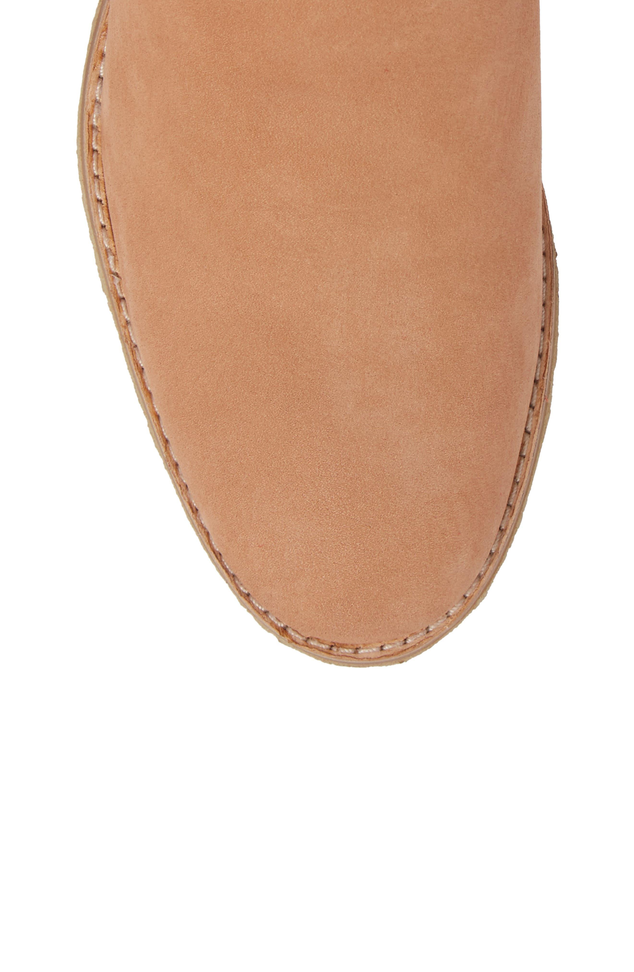 Amara Water Resistant Block Heel Bootie,                             Alternate thumbnail 5, color,                             SANDSTONE NUBUCK LEATHER