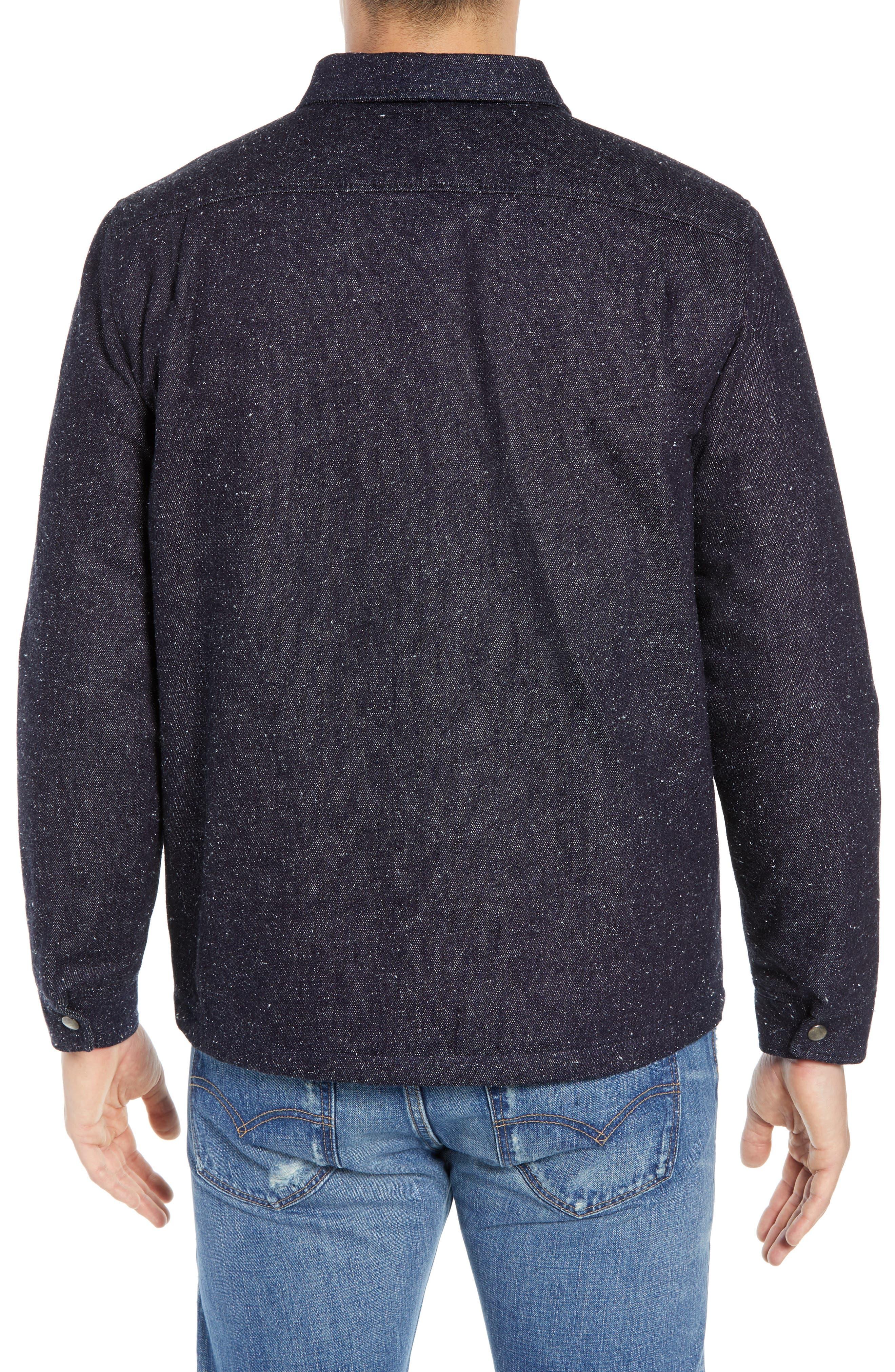Nep Shirt Jacket,                             Alternate thumbnail 2, color,                             DENIM BLUES