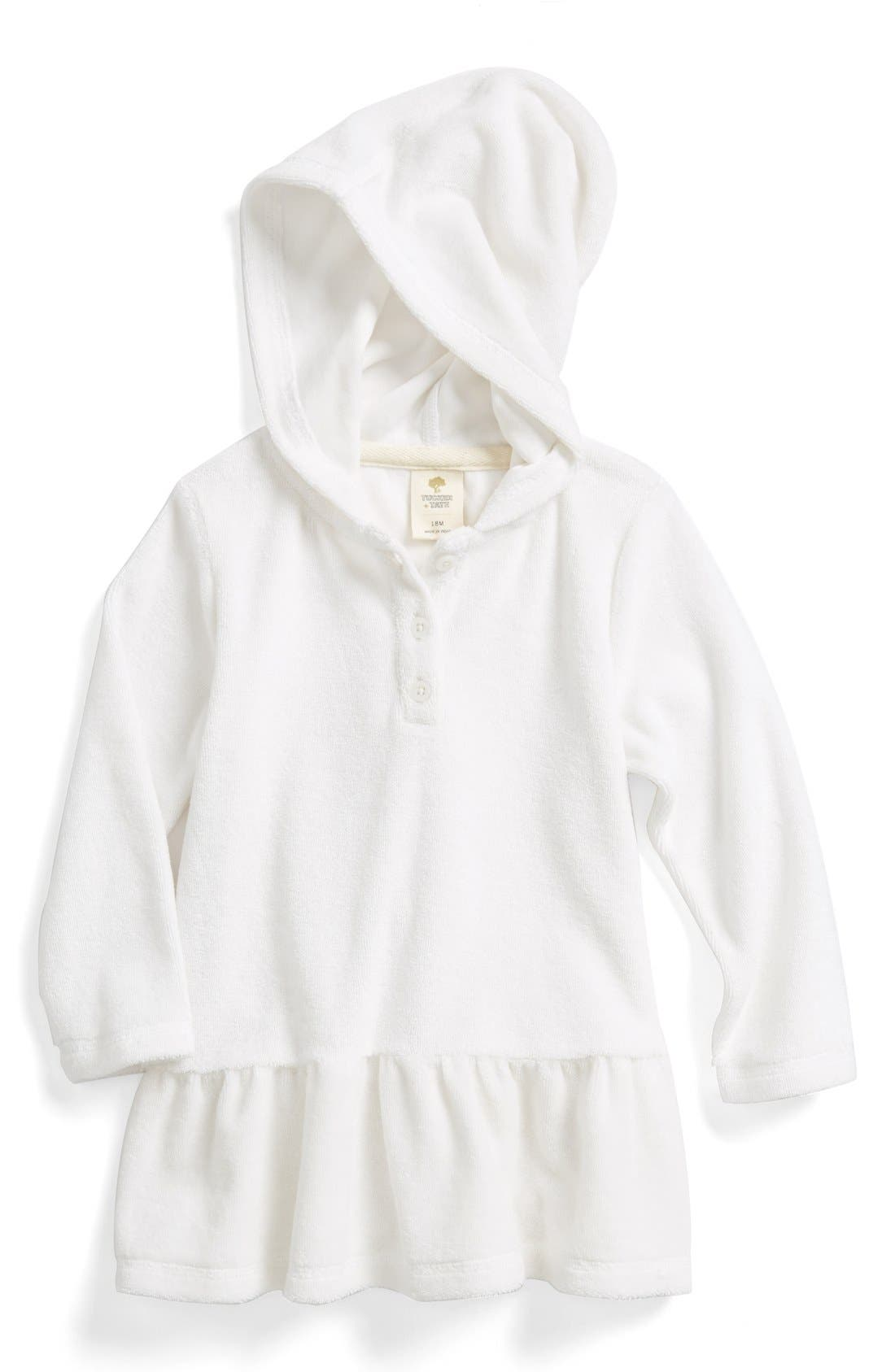 Hooded Terry Cloth Cover-Up,                             Main thumbnail 1, color,                             100
