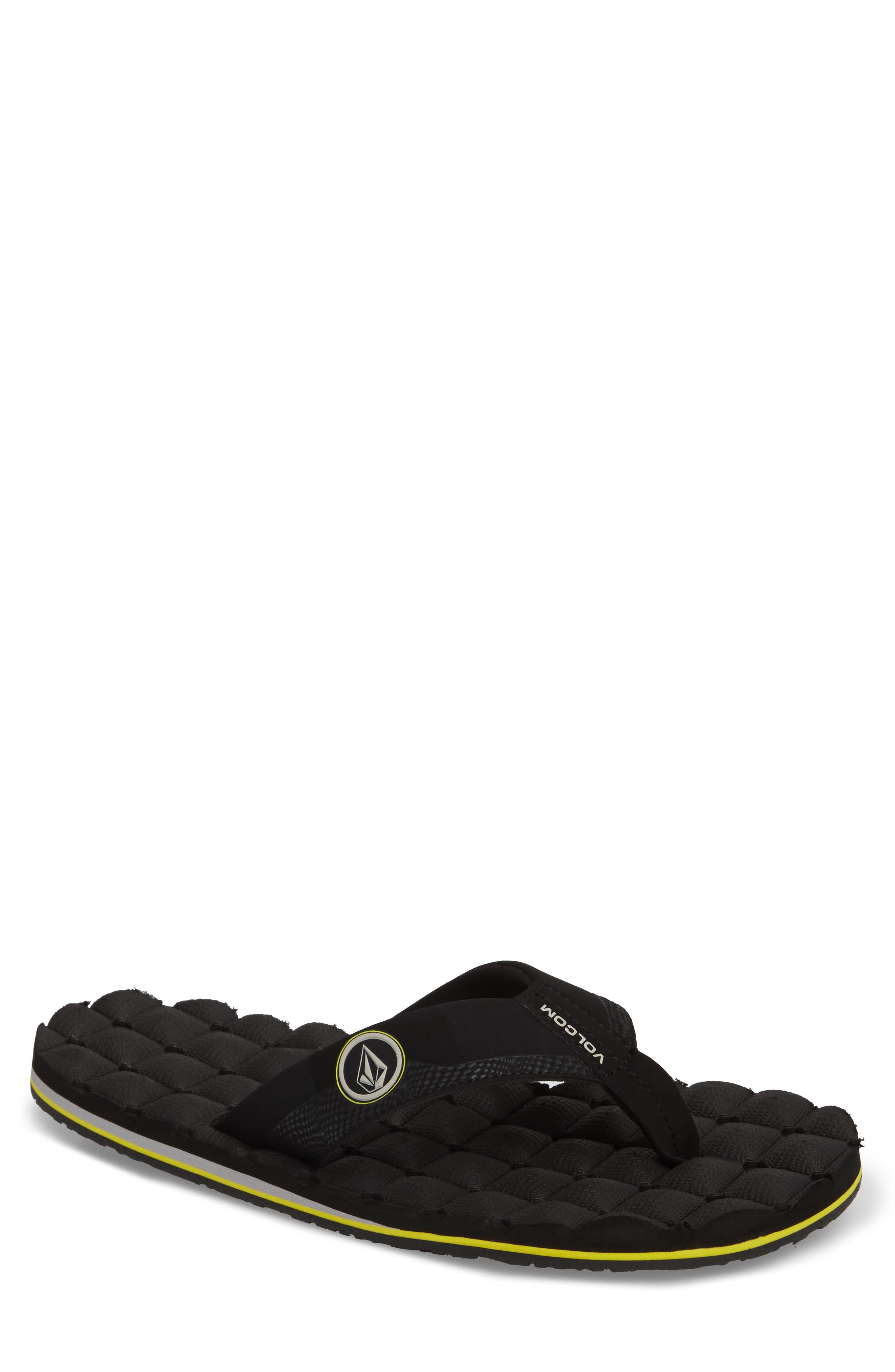 'Recliner' Flip Flop,                         Main,                         color, BLACK