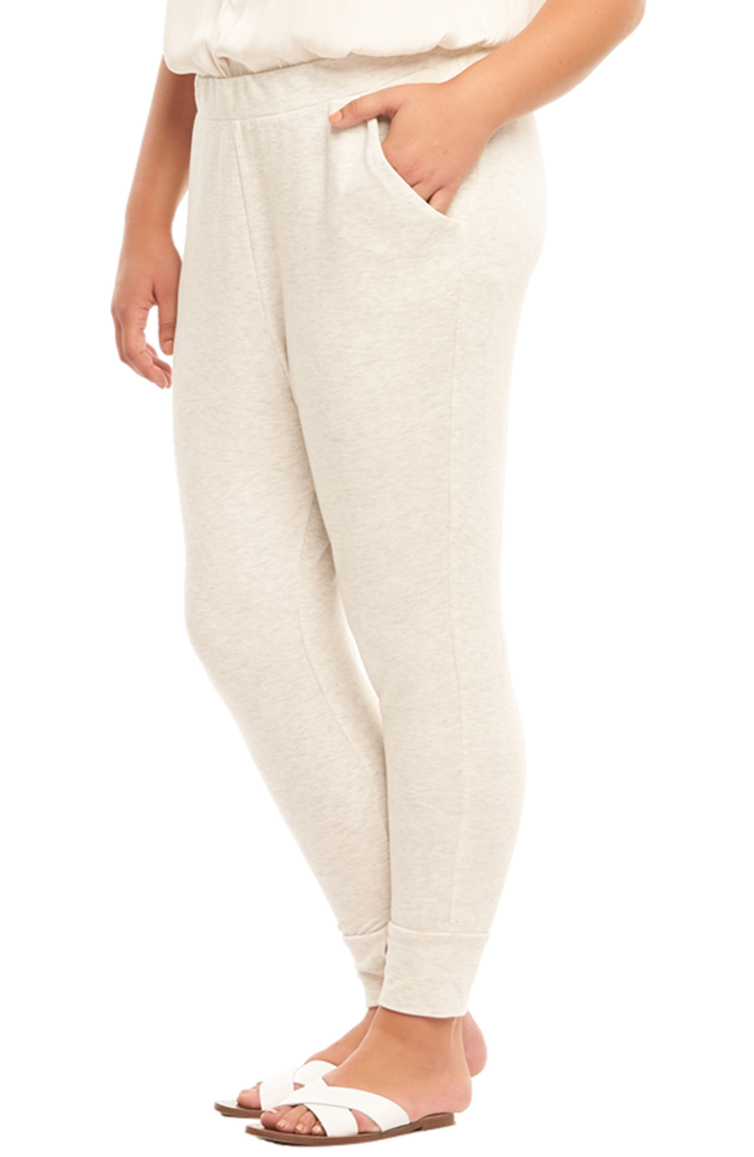 Zadie Jogger Pants,                             Alternate thumbnail 3, color,                             GREY WITH ROSE